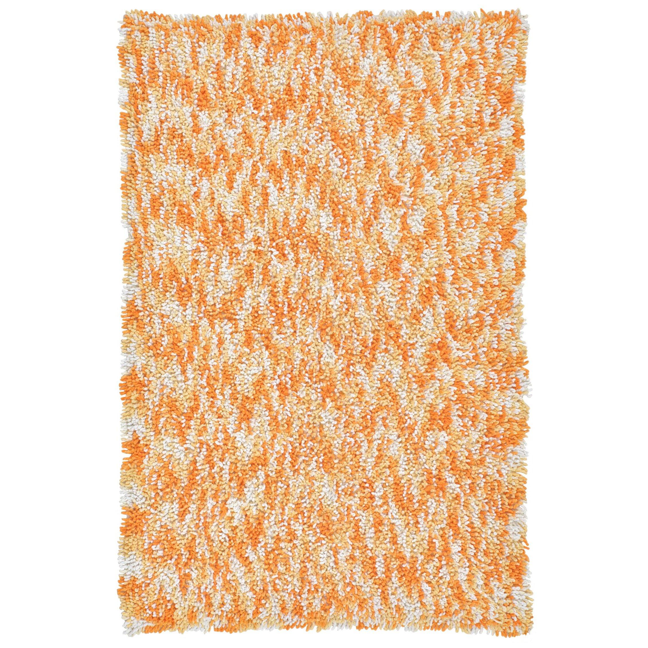 St. Croix Shagadelic Orange Twist Swirl Shag Area Rug