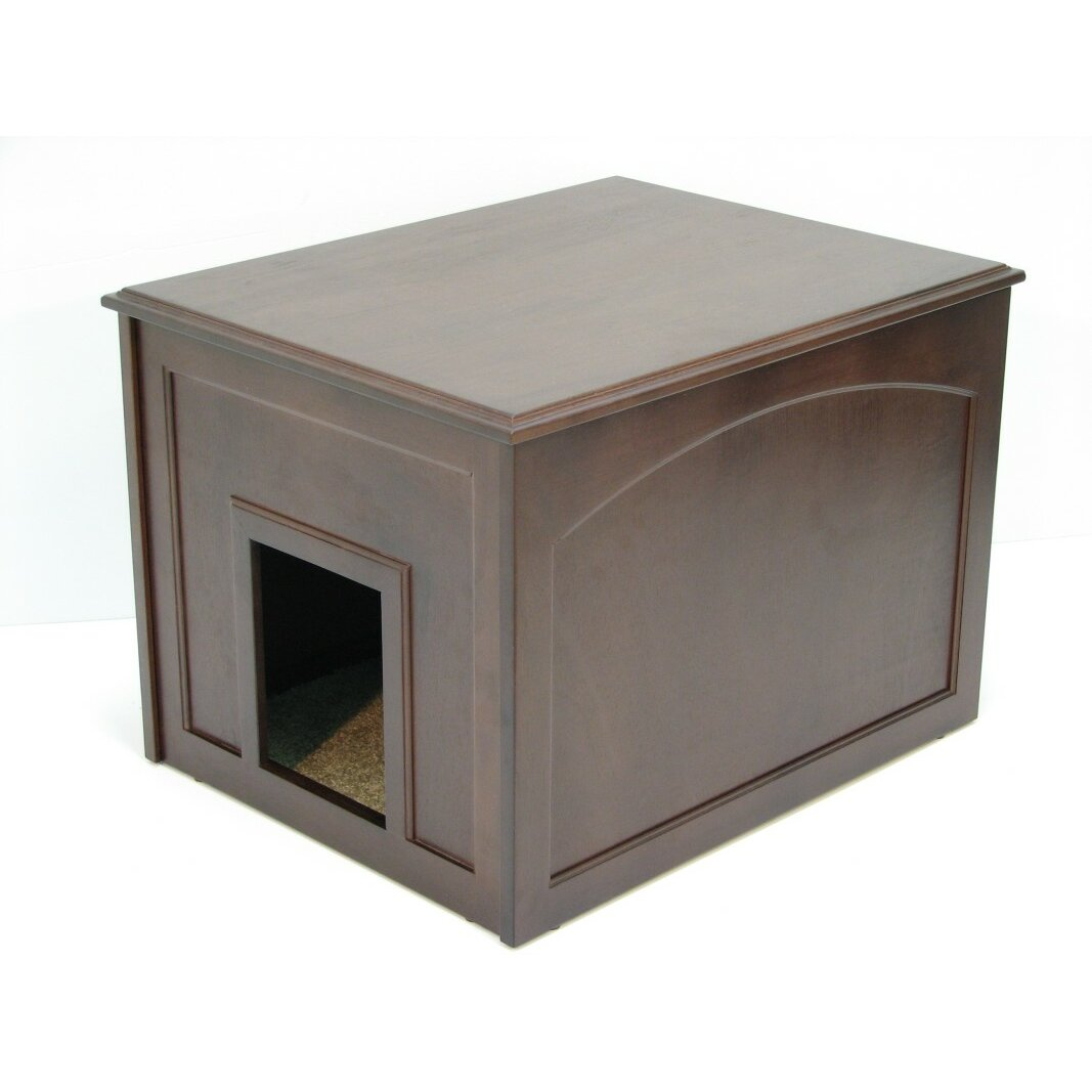 crown pet products cat condo amp litter box enclosure arena kitty litter box