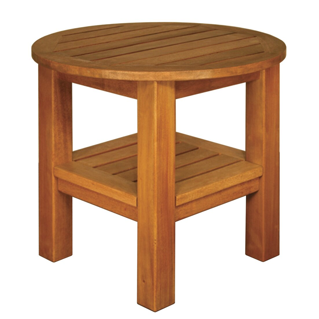 Blue Star Group Terrace Mates Two Shelf High Round Side
