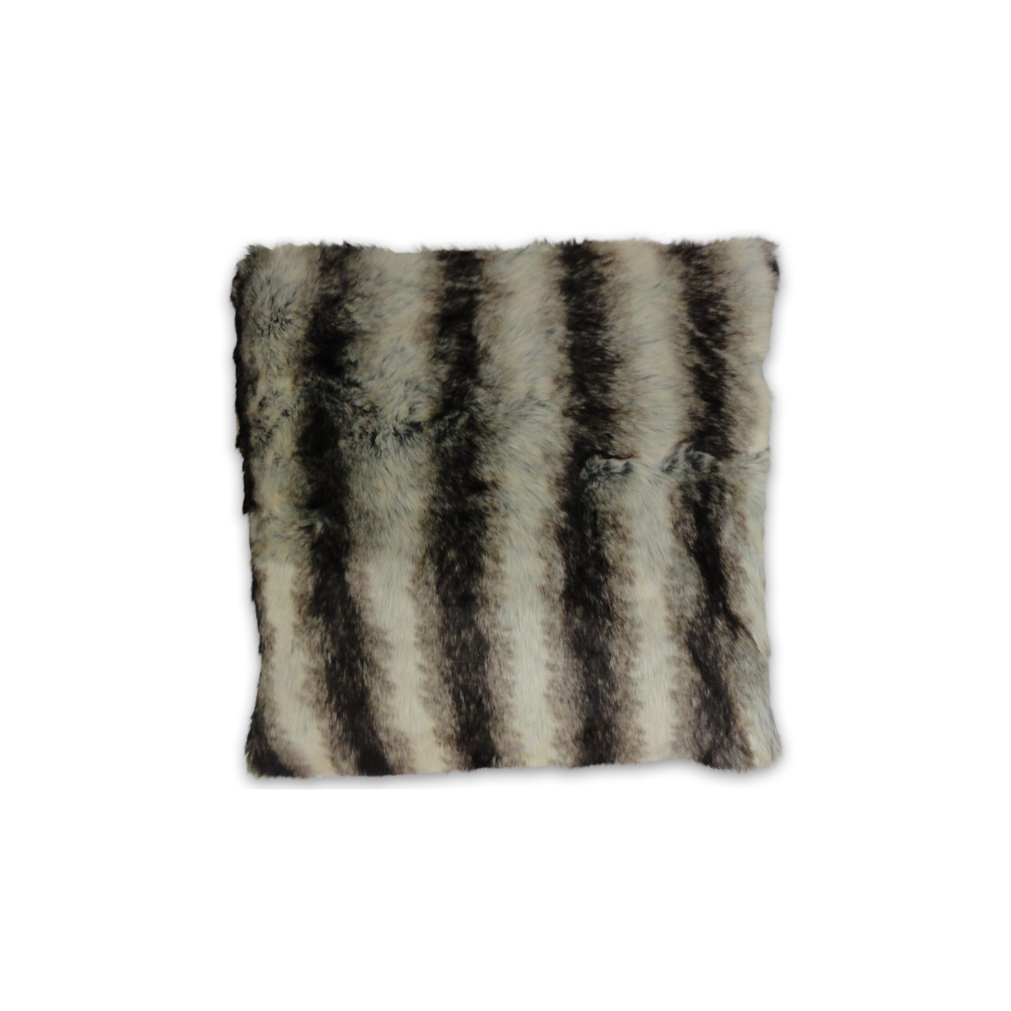 Black Fur Throw Pillows : DR International Brengar Faux Fur Throw Pillow & Reviews Wayfair