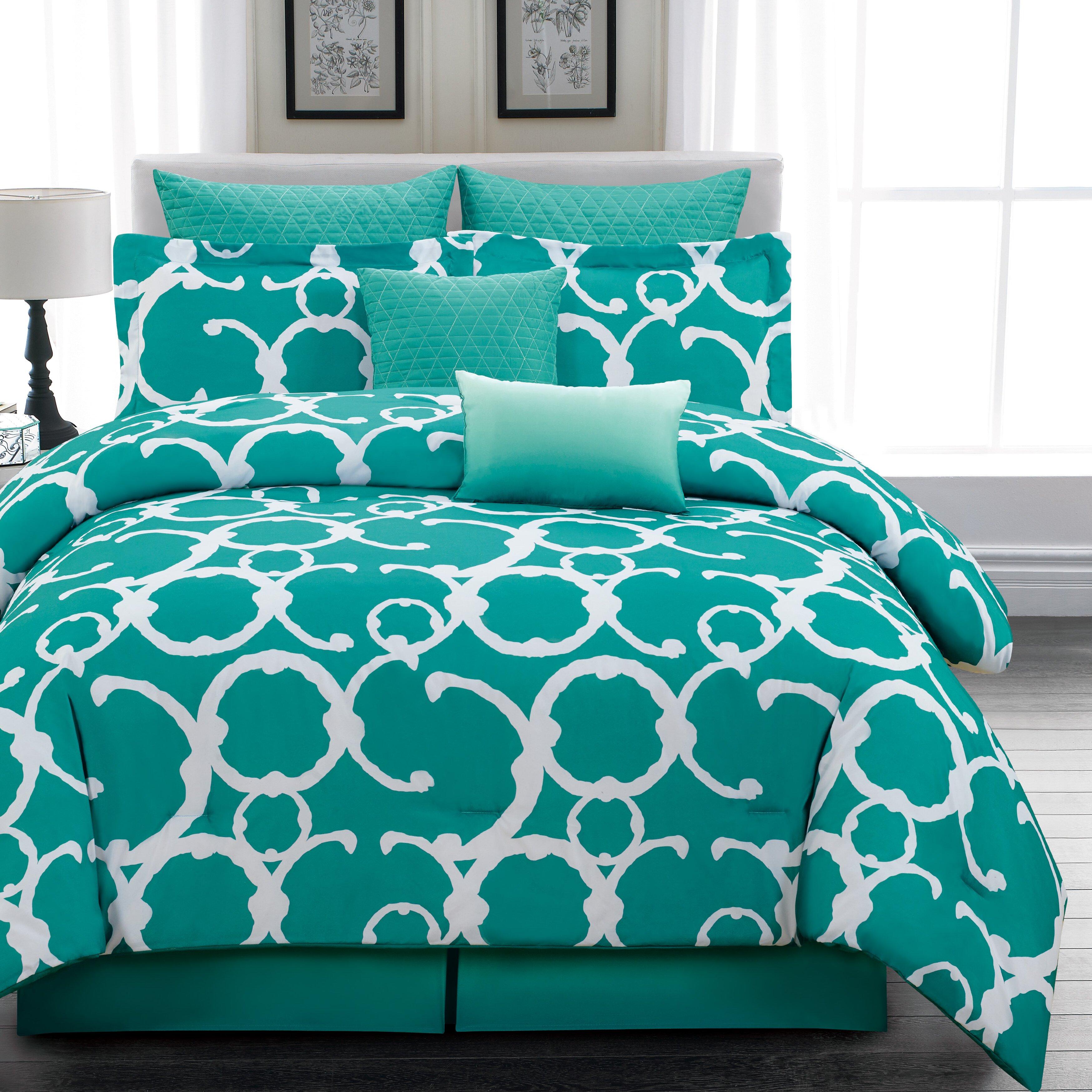 dr international rhys 7 piece comforter set reviews wayfair. Black Bedroom Furniture Sets. Home Design Ideas