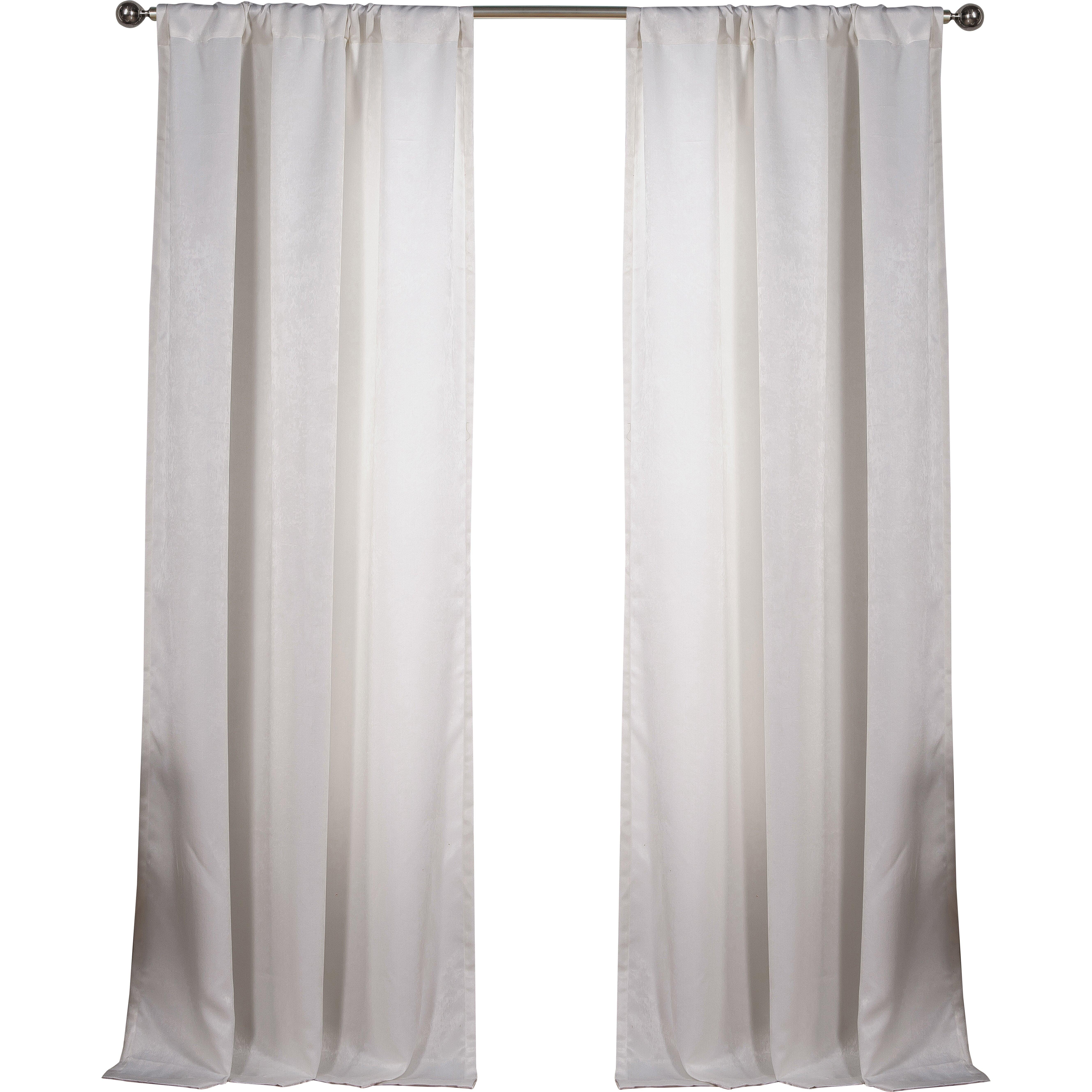 Dr International Blackout Rod Pocket Curtain Panel In White Wayfair