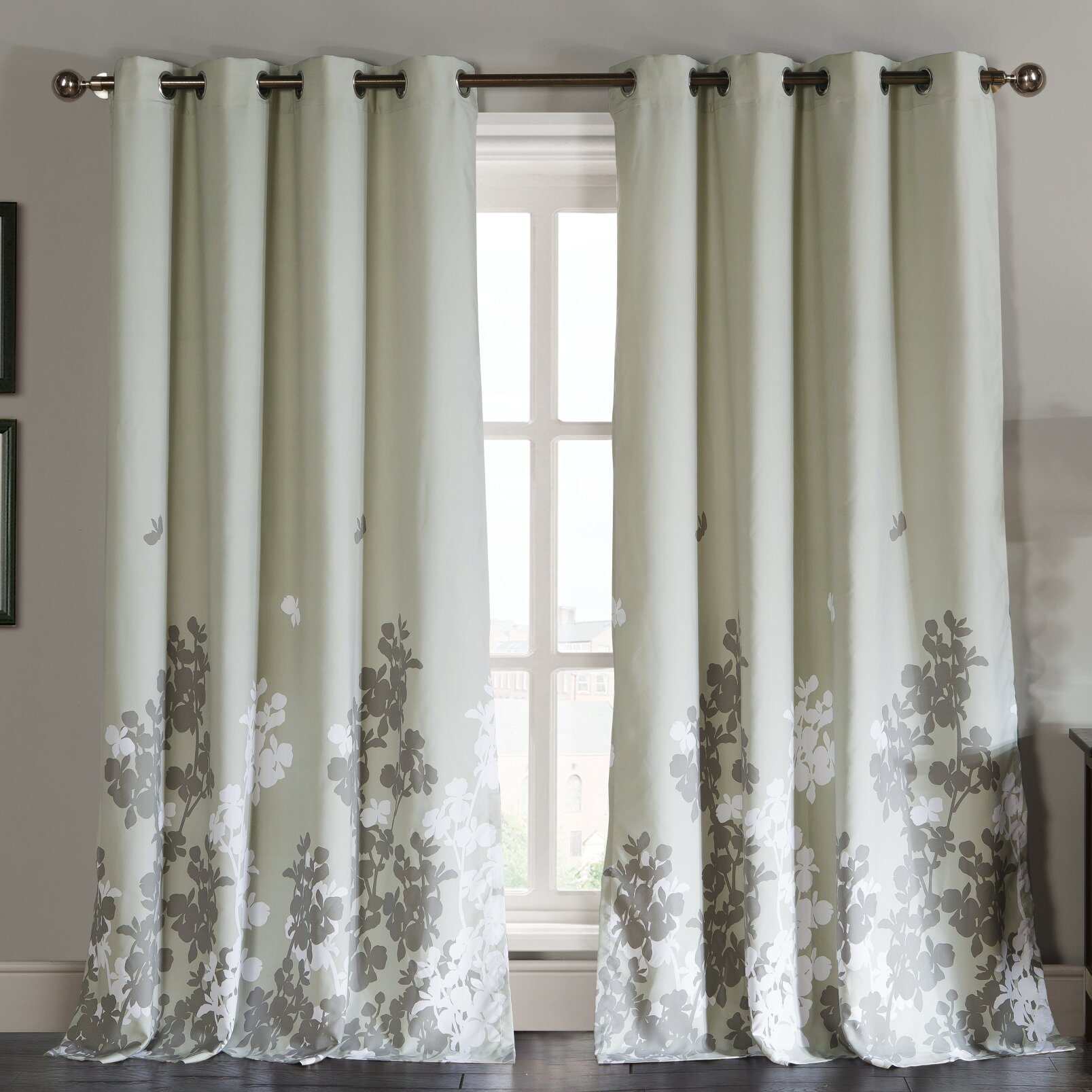 Window Treatments For Dining Rooms Dr International Ellamay Grommet Curtain Panels Amp Reviews