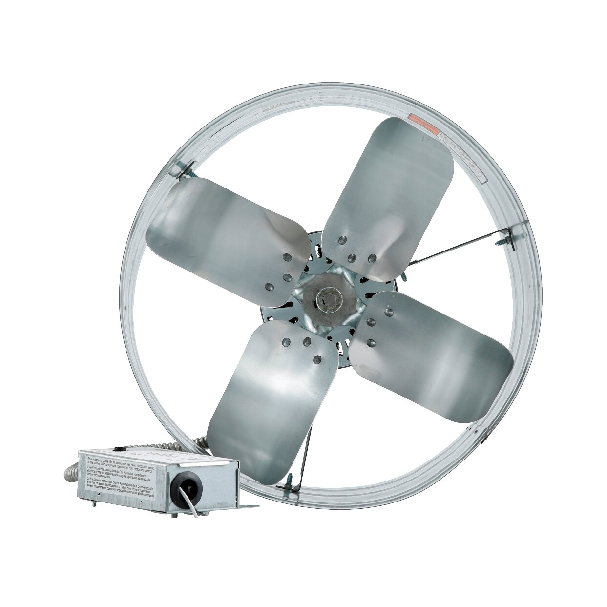 Iliving Gable Mount Attic Fan With Adjustable Thermostat