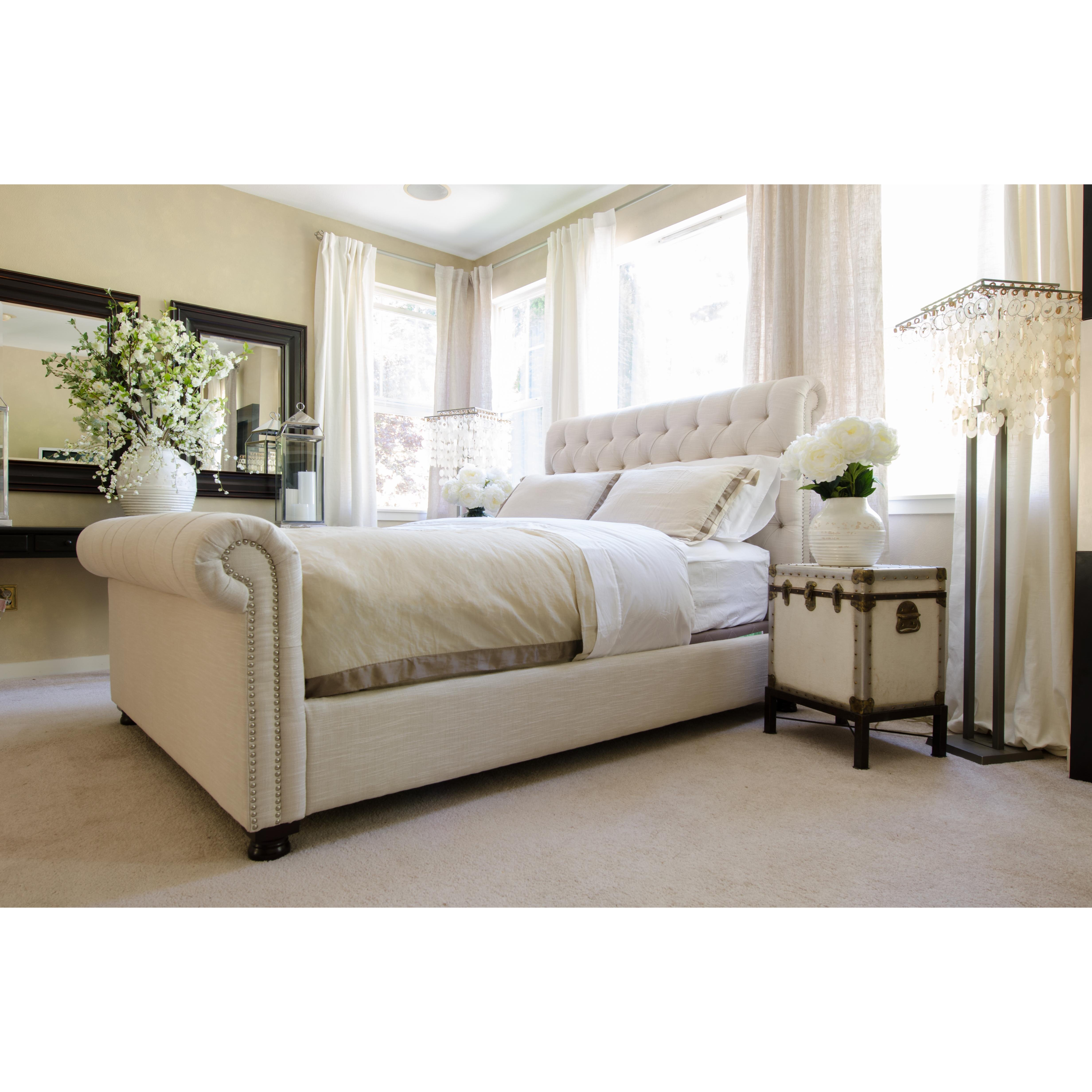 elements fine home furnishings upholstered sleigh bed reviews wayfair. Black Bedroom Furniture Sets. Home Design Ideas
