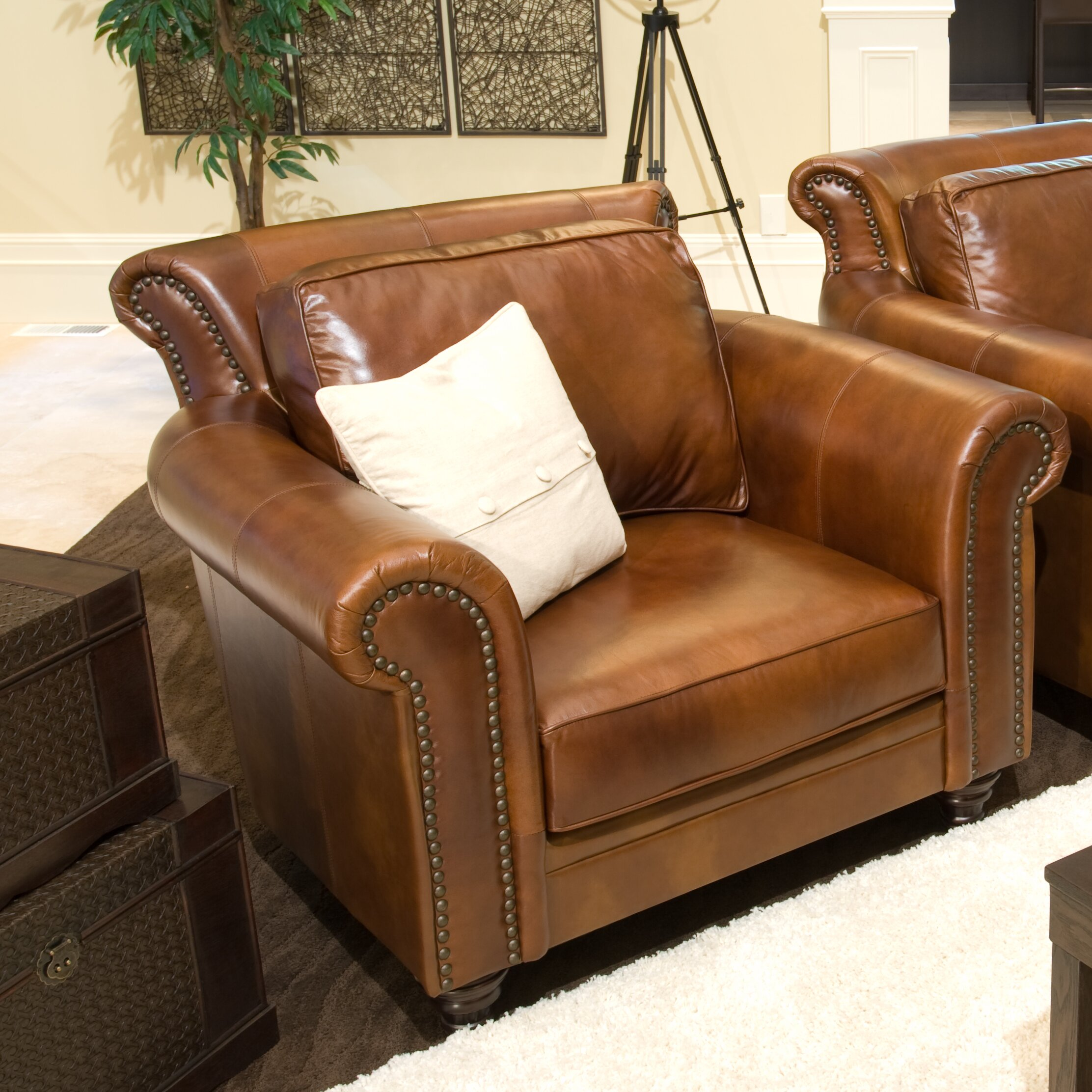 elements fine home furnishings paladia top grain leather chair reviews wayfair. Black Bedroom Furniture Sets. Home Design Ideas
