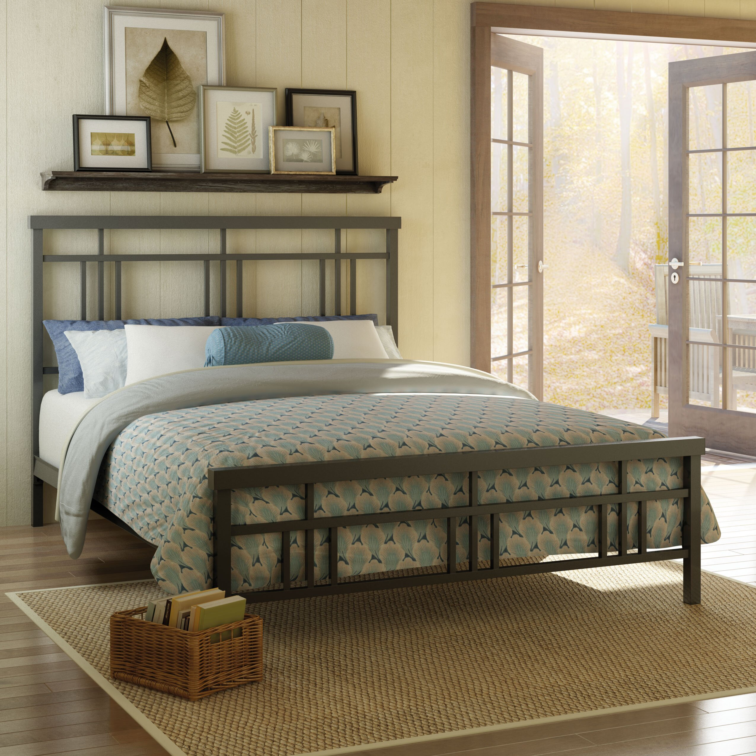 Amisco cottage metal headboard and footboard reviews for Queen size footboard
