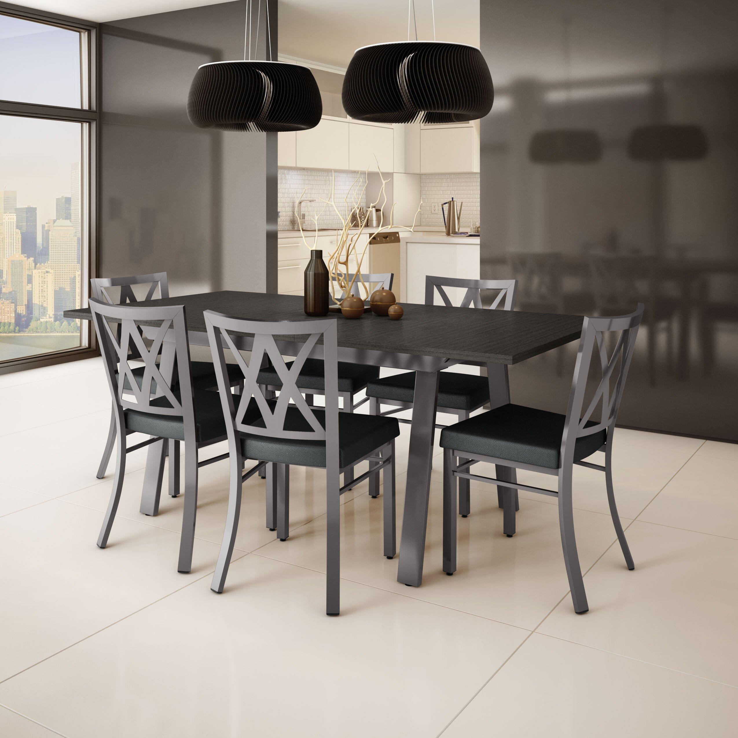 Dining Furniture Set: Amisco Drift 9 Piece Dining Set