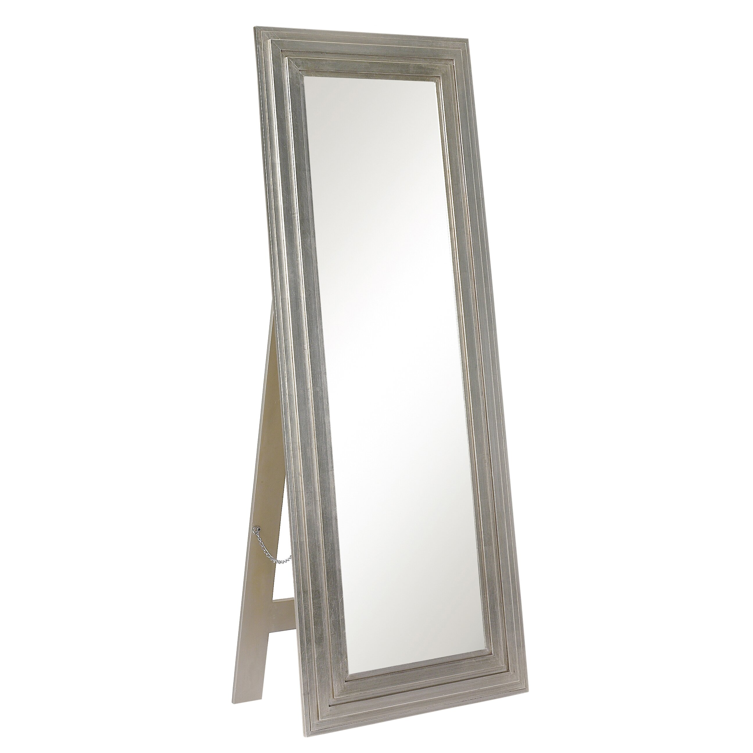 Silver full length floor mirror