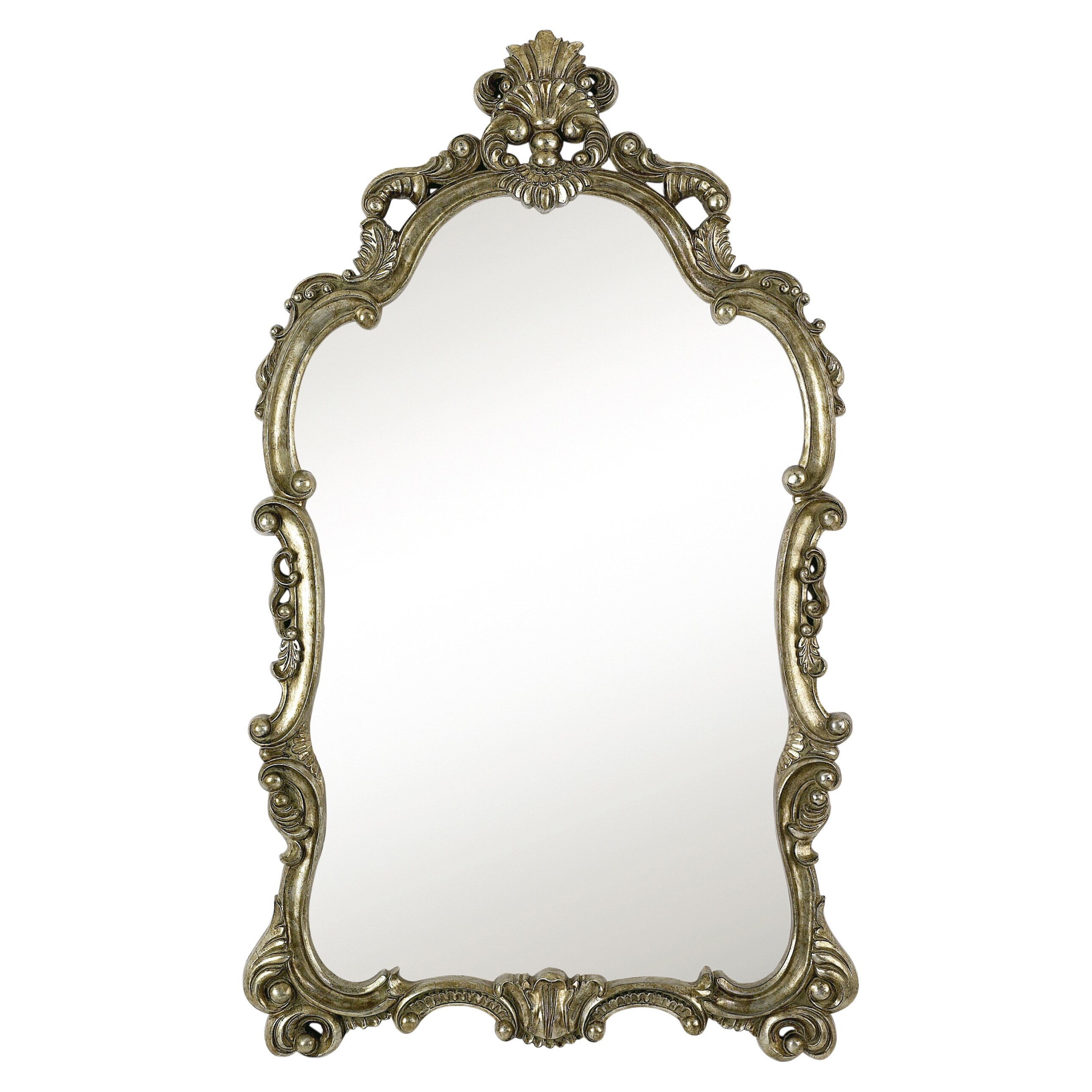 Majestic mirror traditional detailed elegant silver and for Traditional mirror