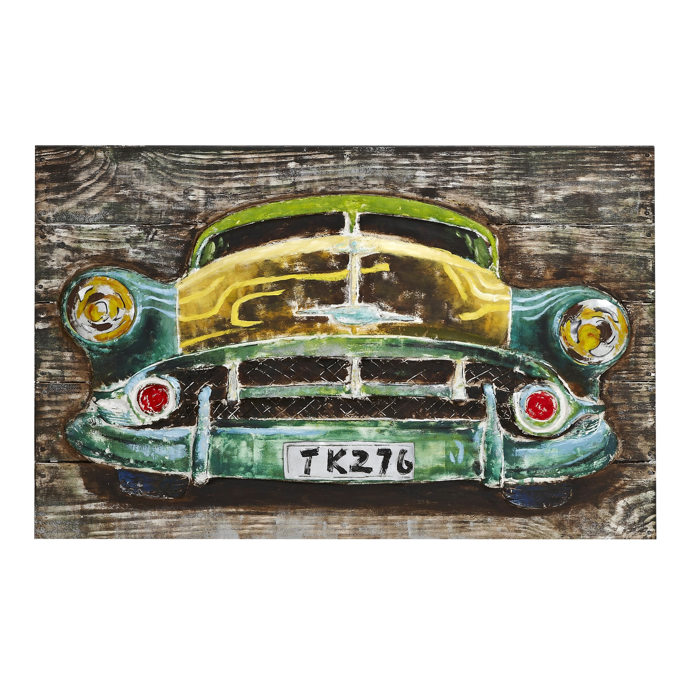 Majestic mirror 3d classic american vintage car picture for American classic 3
