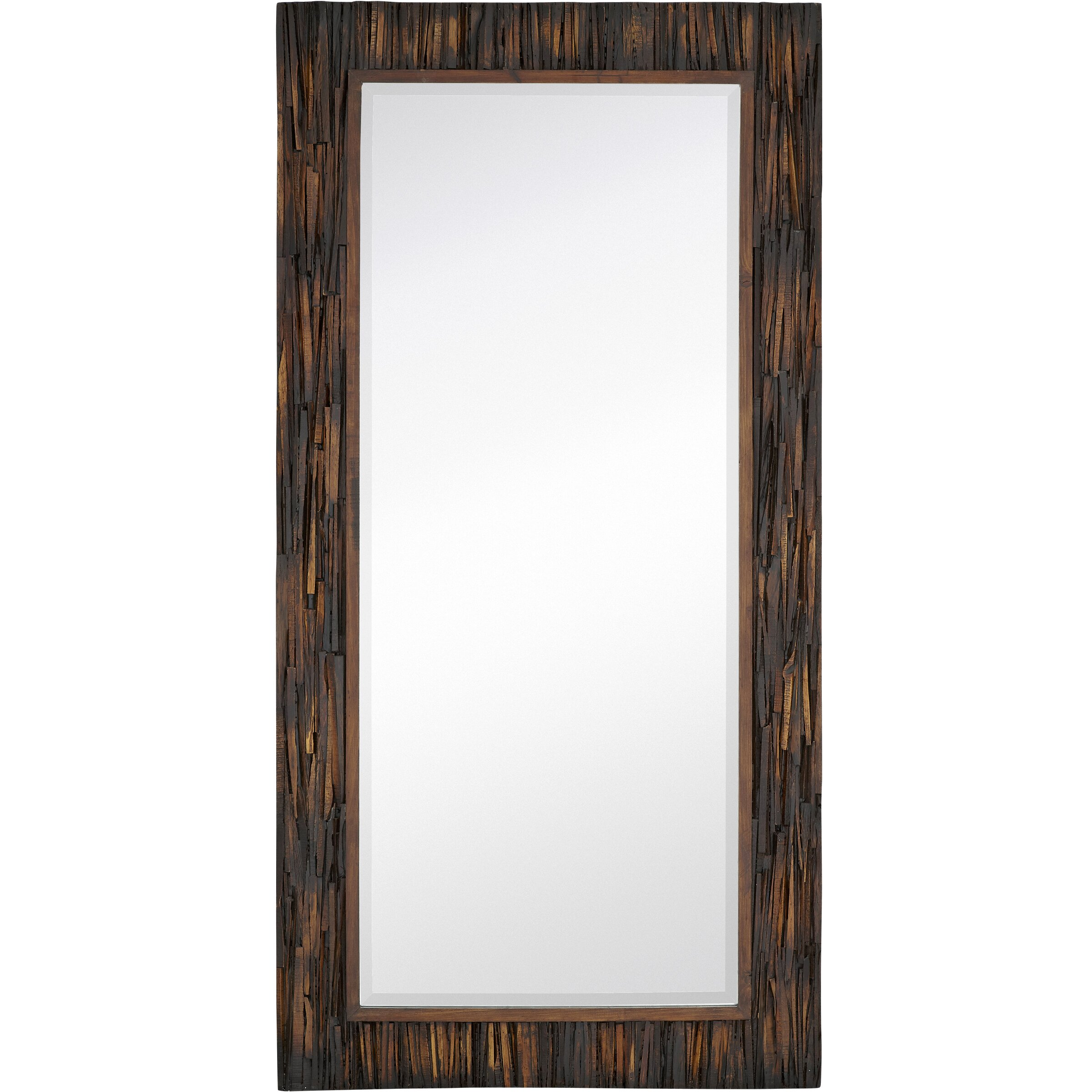 Majestic mirror large scale rectangular natural wood for Accent mirrors