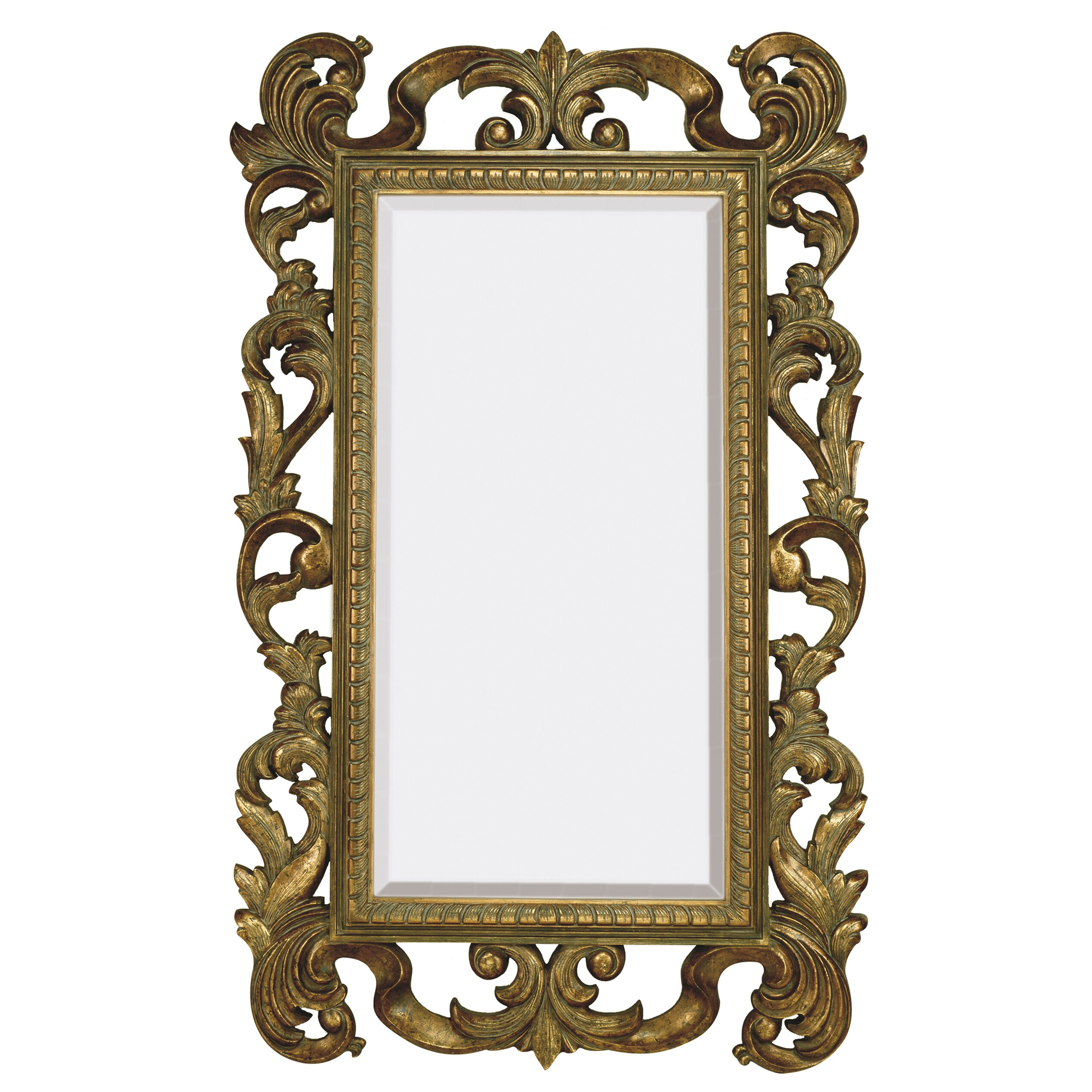 Majestic Mirror Large Rectangular Traditional Antique