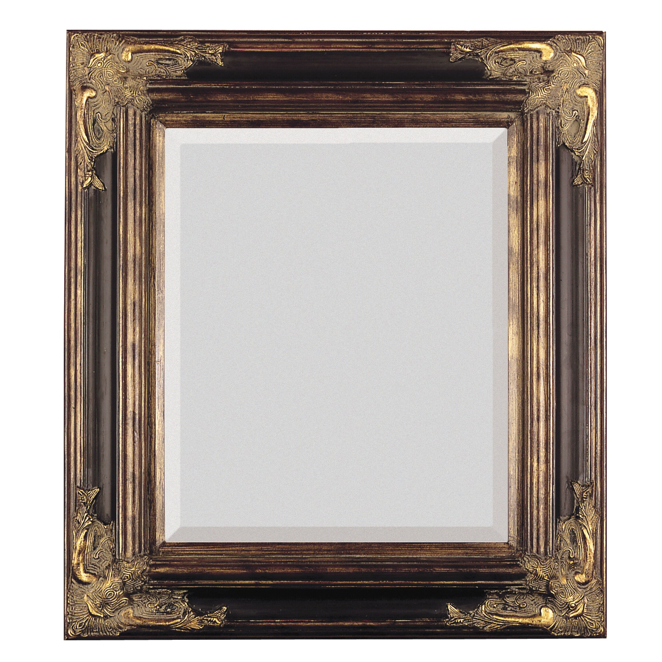 Majestic mirror bronze with gold square antique framed for Beveled glass mirror