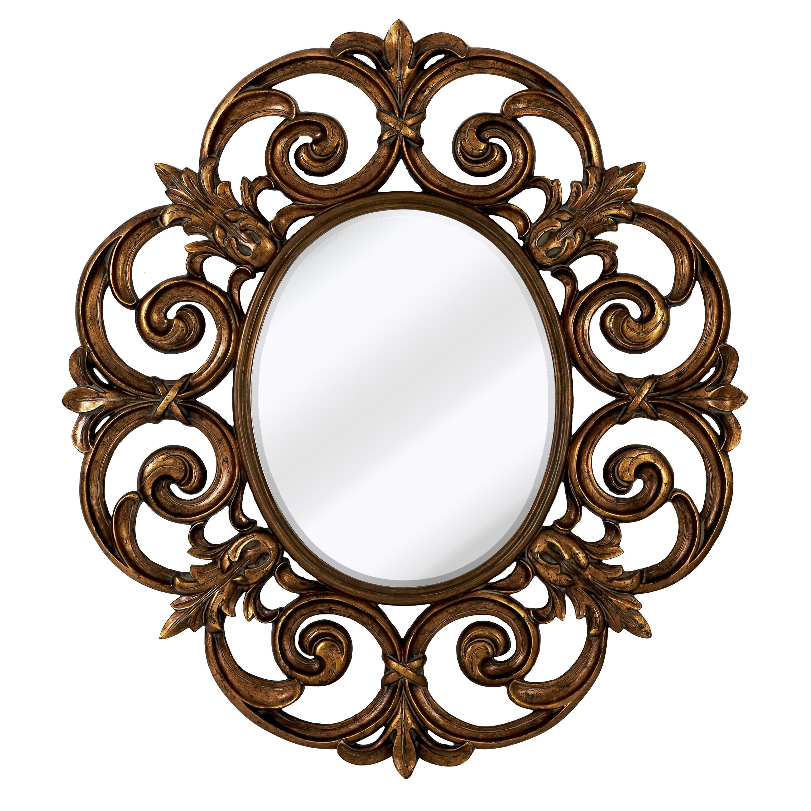 Round Shaped Wall Decor : Majestic mirror large traditional round decorative oval