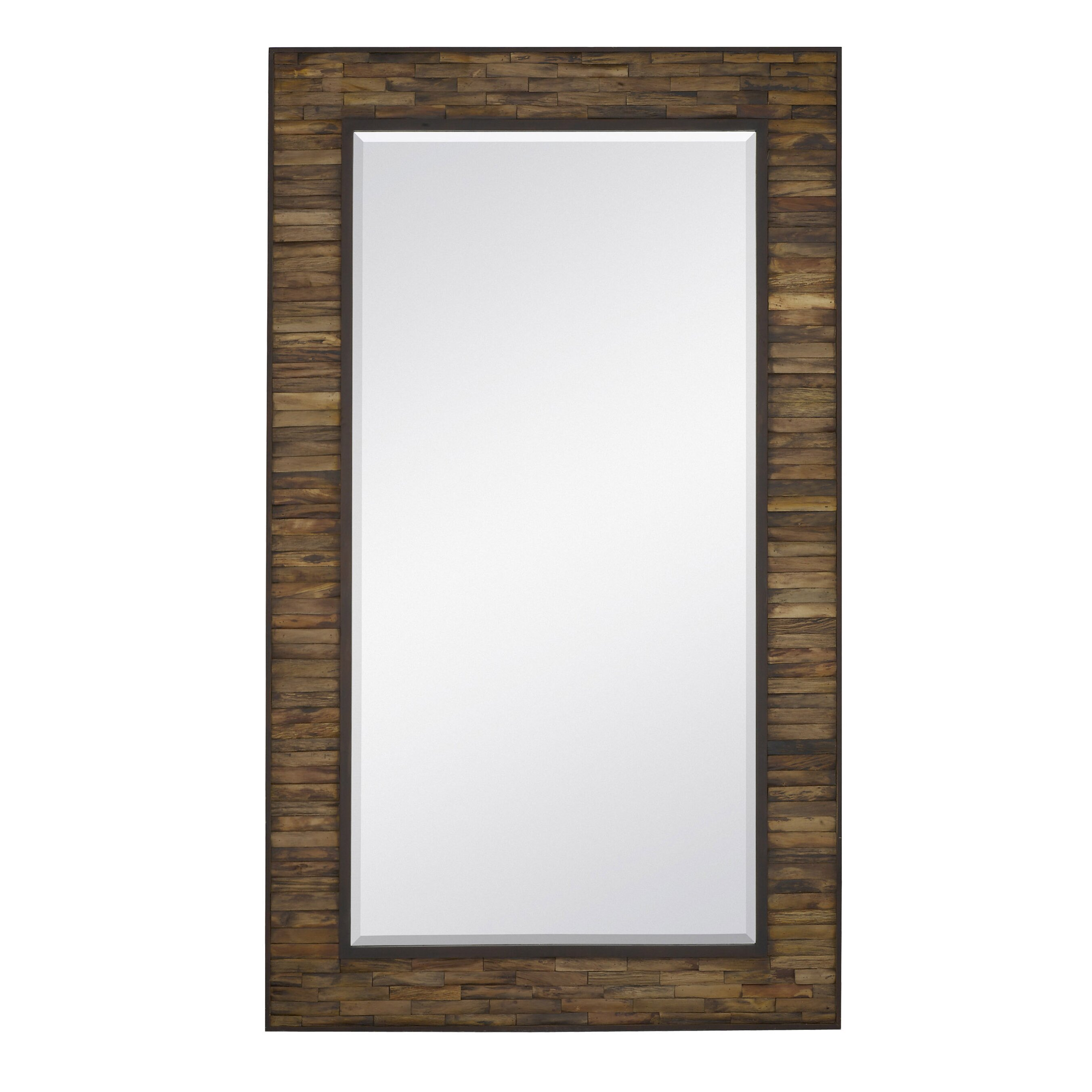 majestic mirror oversized rectangular natural wood with mahogany border full length wall mirror. Black Bedroom Furniture Sets. Home Design Ideas