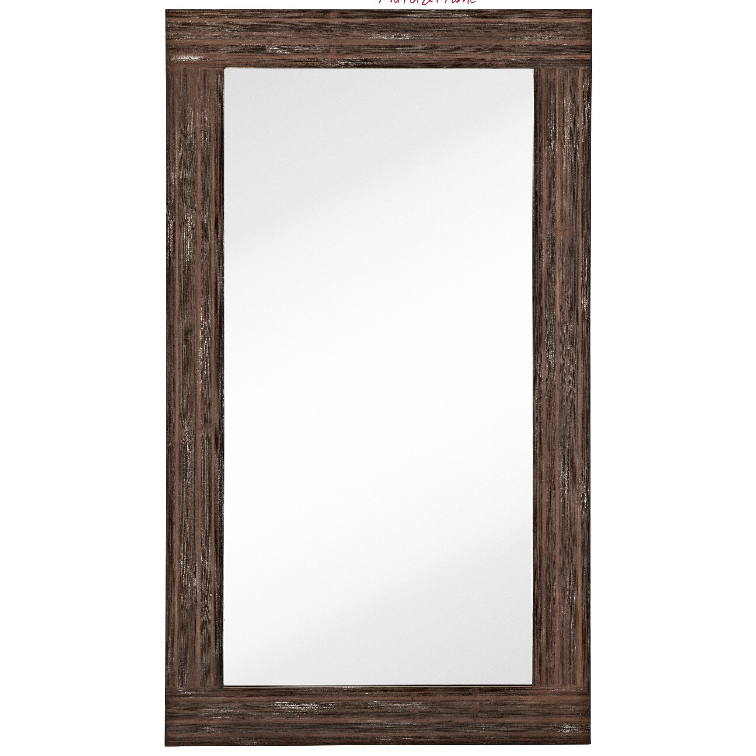 Majestic Mirror Large Traditional Rectangular Walnut ...