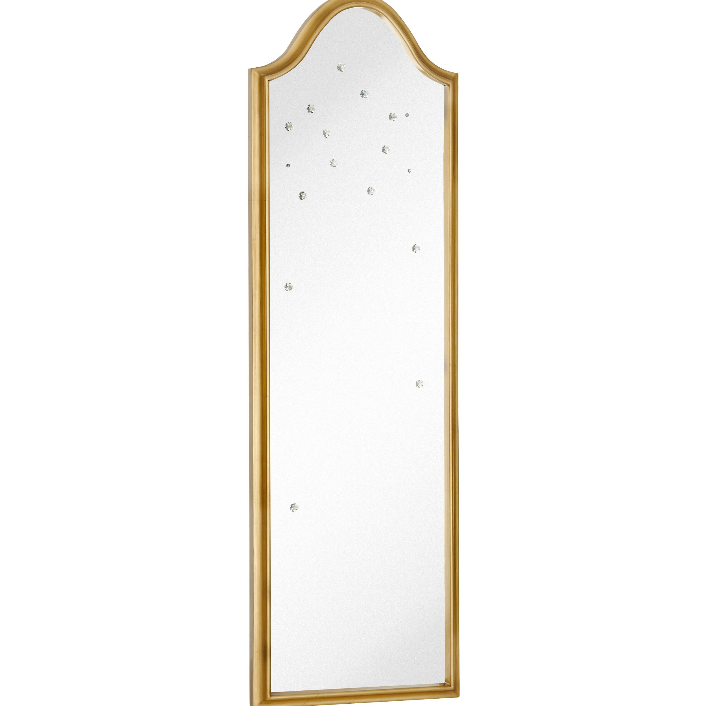 Majestic mirror tall narrow mirror with gold leaf frame for Tall slim mirror