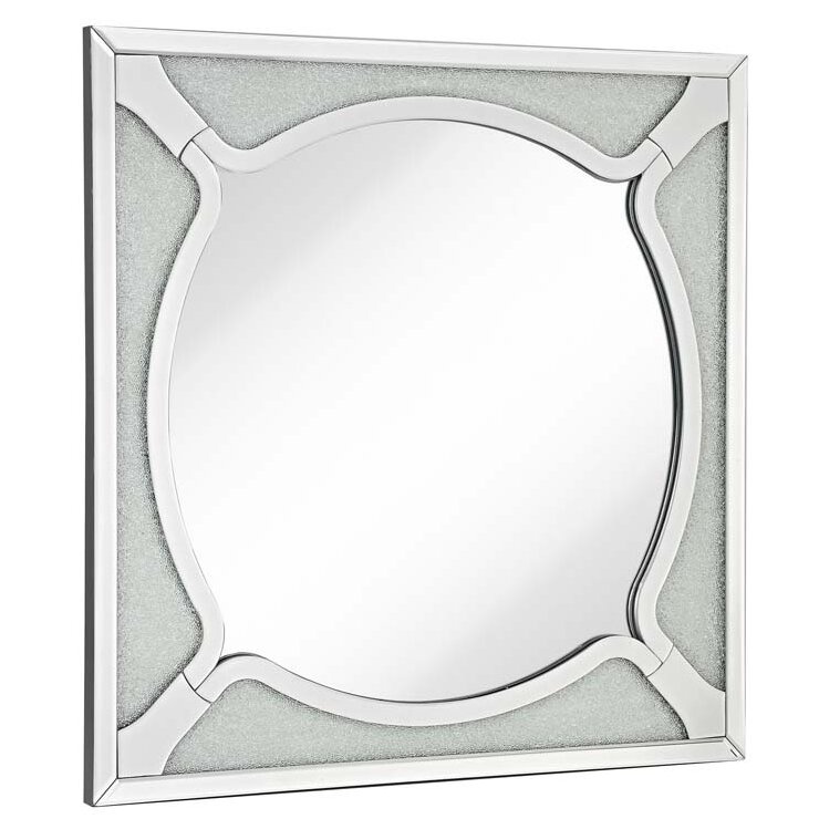 majestic mirror square wood frame beveled mirror