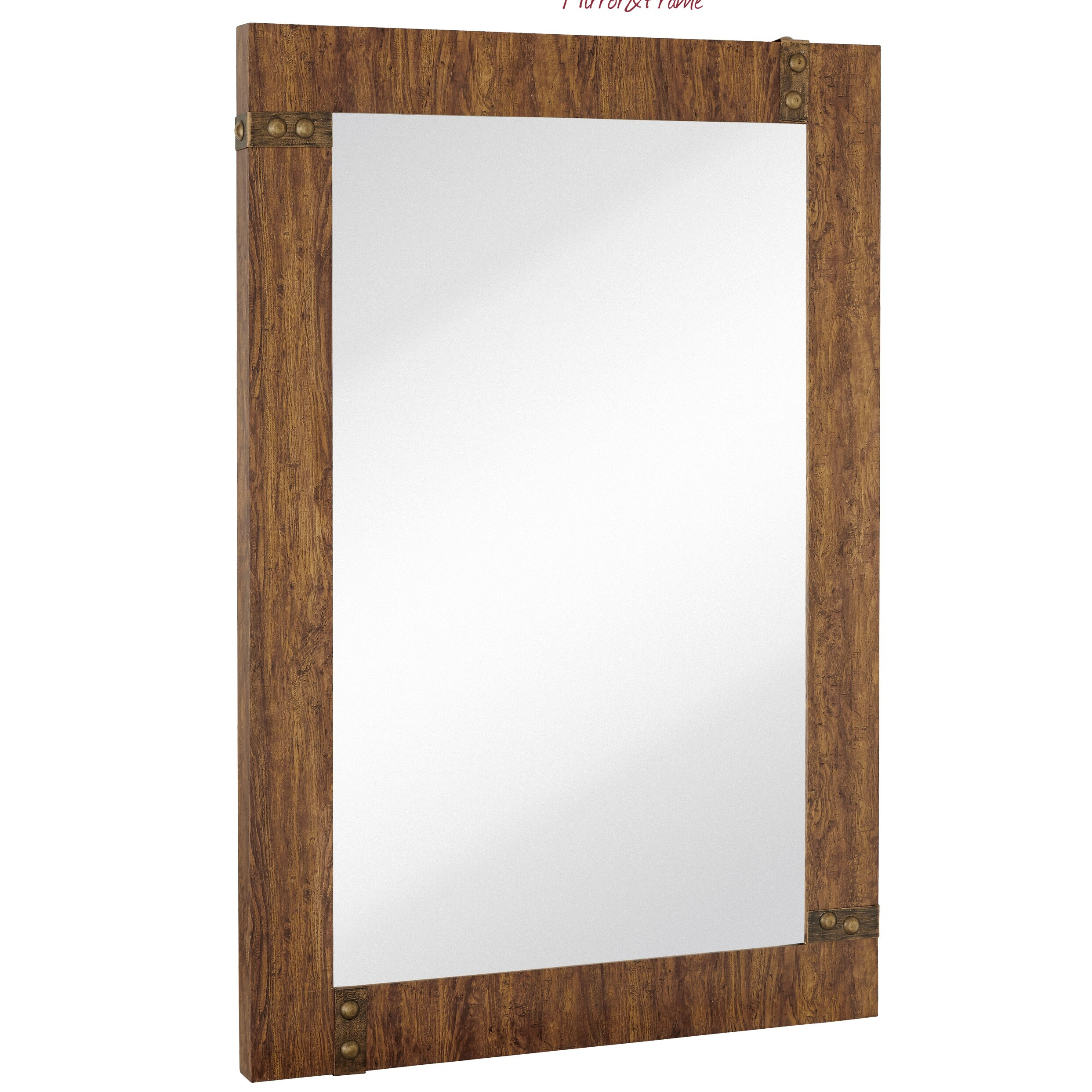 Majestic mirror large rectangular mirror with stained wood for Timber frame accents