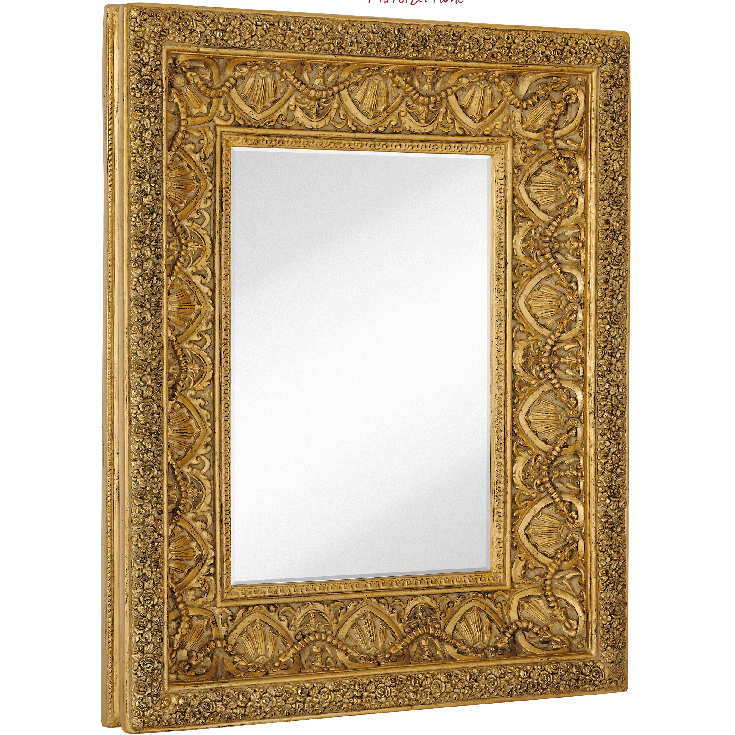 Majestic Mirror Large Traditional Bright Gold Leaf