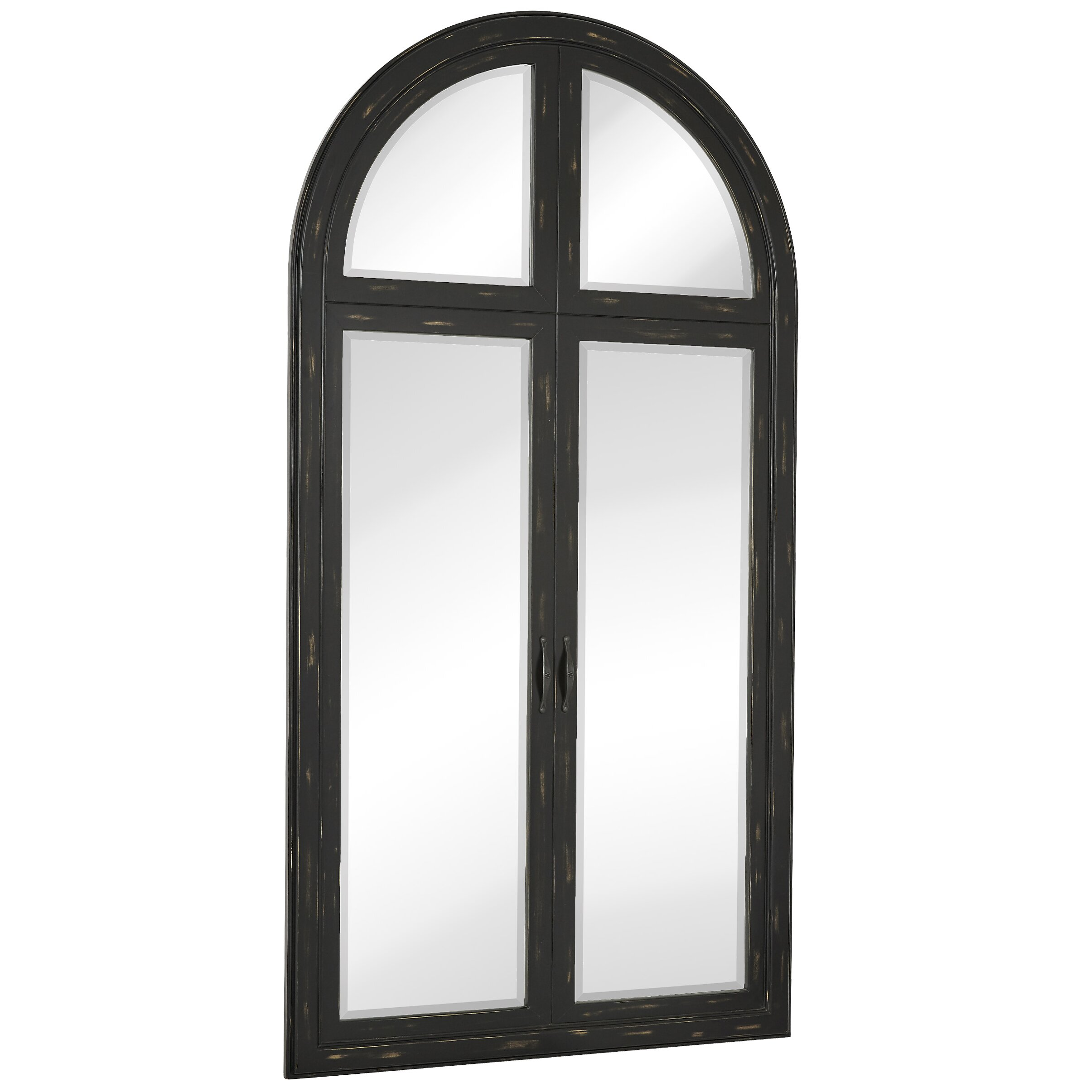 Majestic mirror beveled glass full length wall mirror for Full wall mirrors