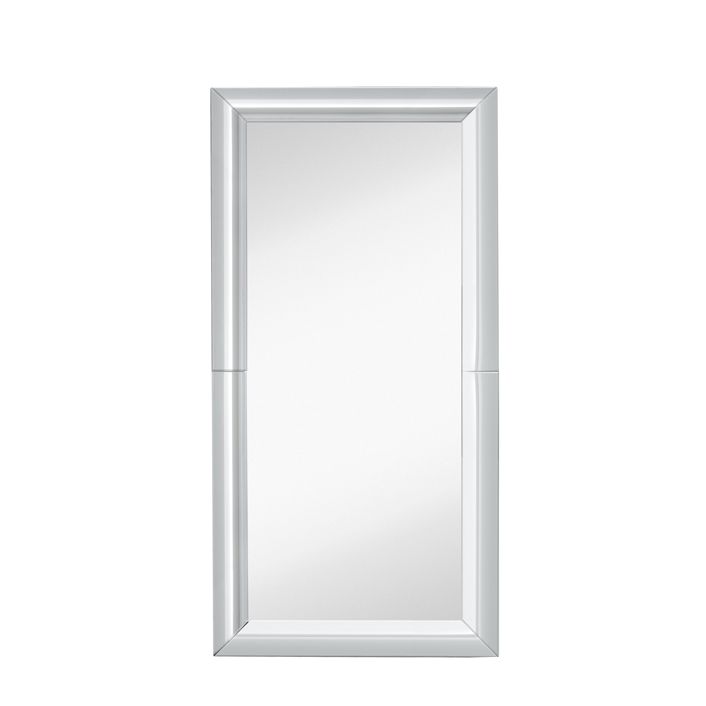 Majestic mirror large beautiful rectangular full length for Full length wall mirror