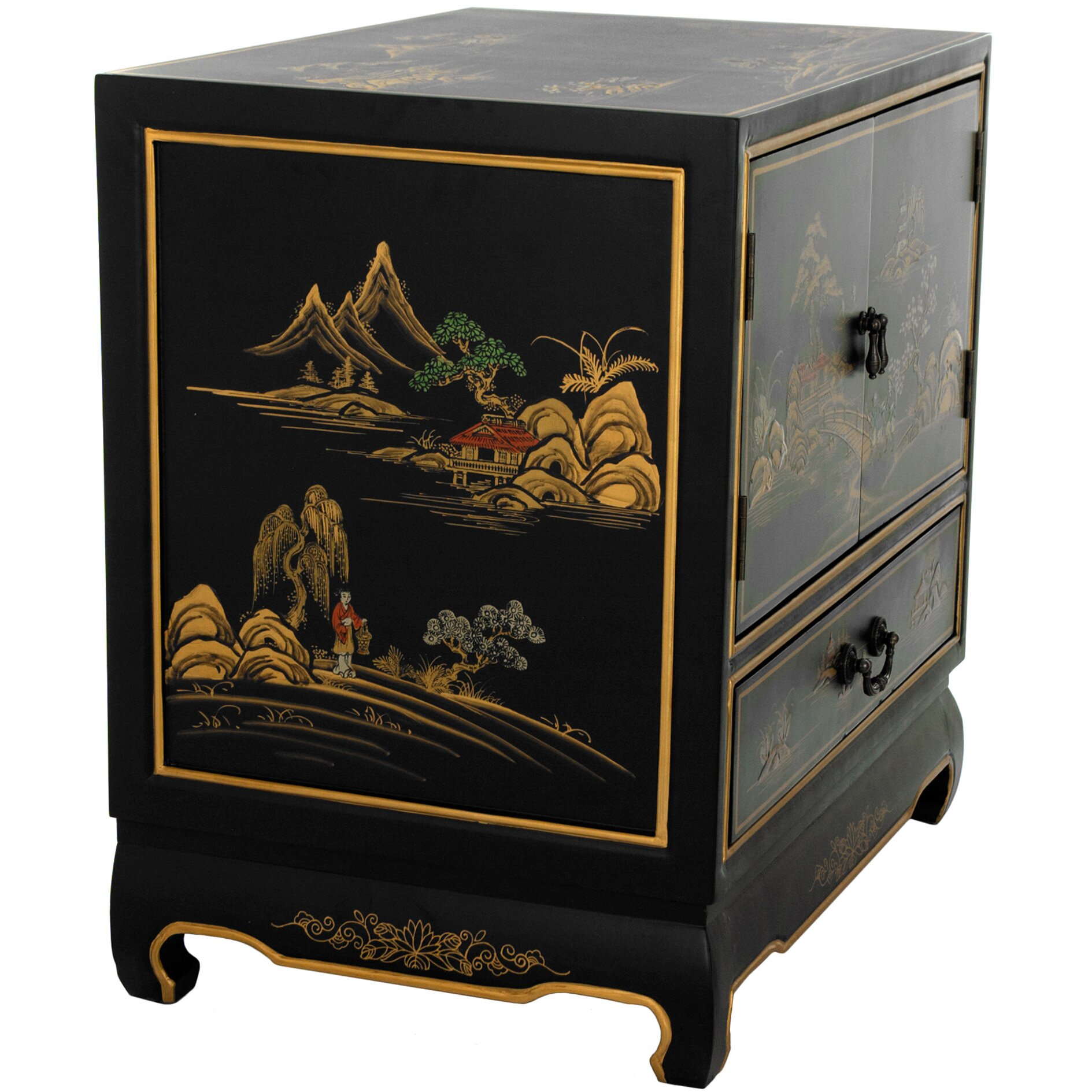 Oriental furniture 1 drawer nightstand reviews for Asian furniture emeryville ca