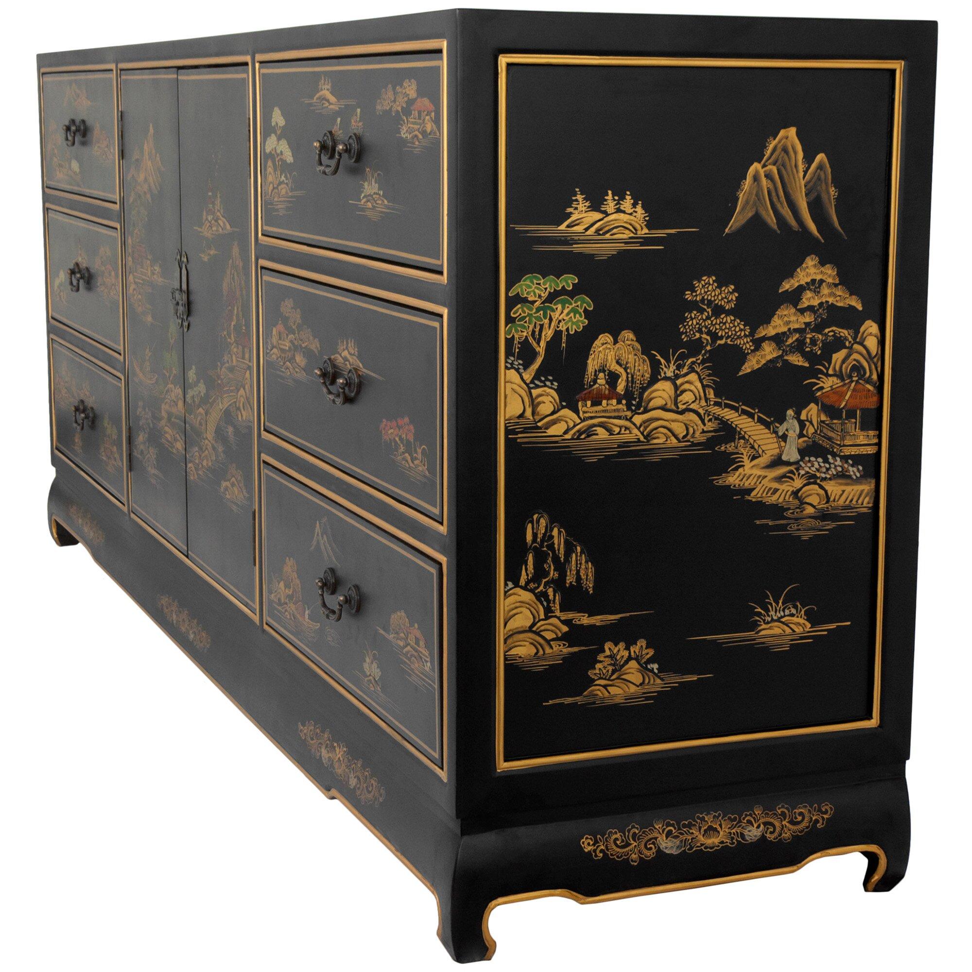 Oriental furniture 6 drawer dresser wayfair for Chinese furniture