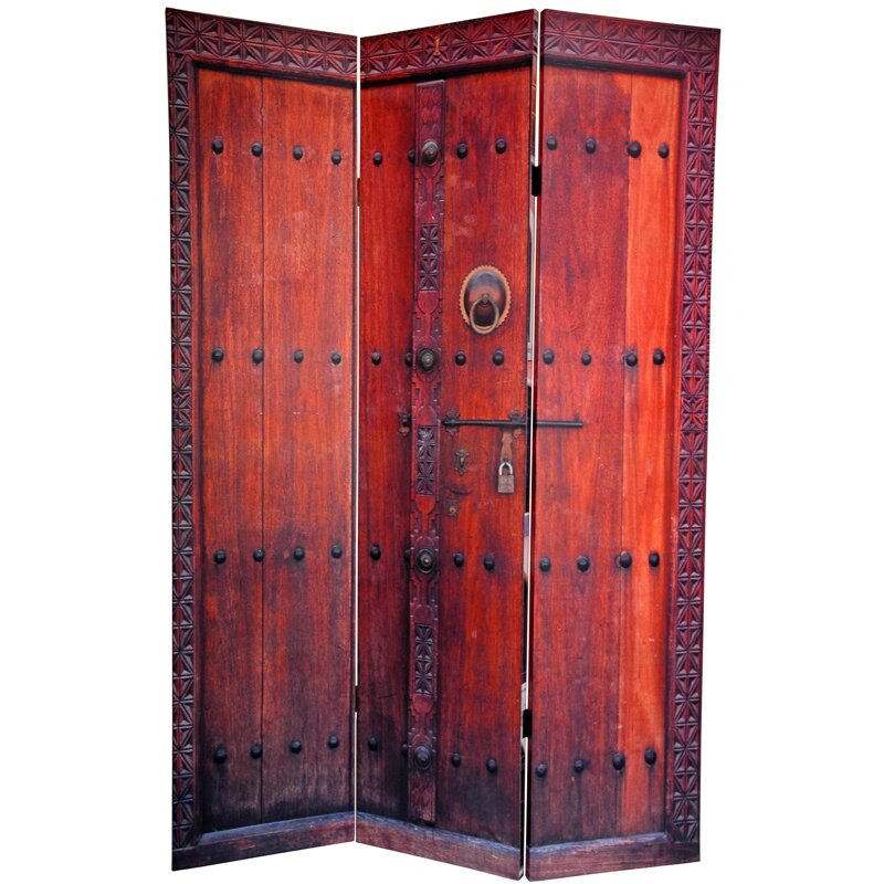 Oriental furniture 72 x 48 double sided doors 3 panel - Room divider doors ...