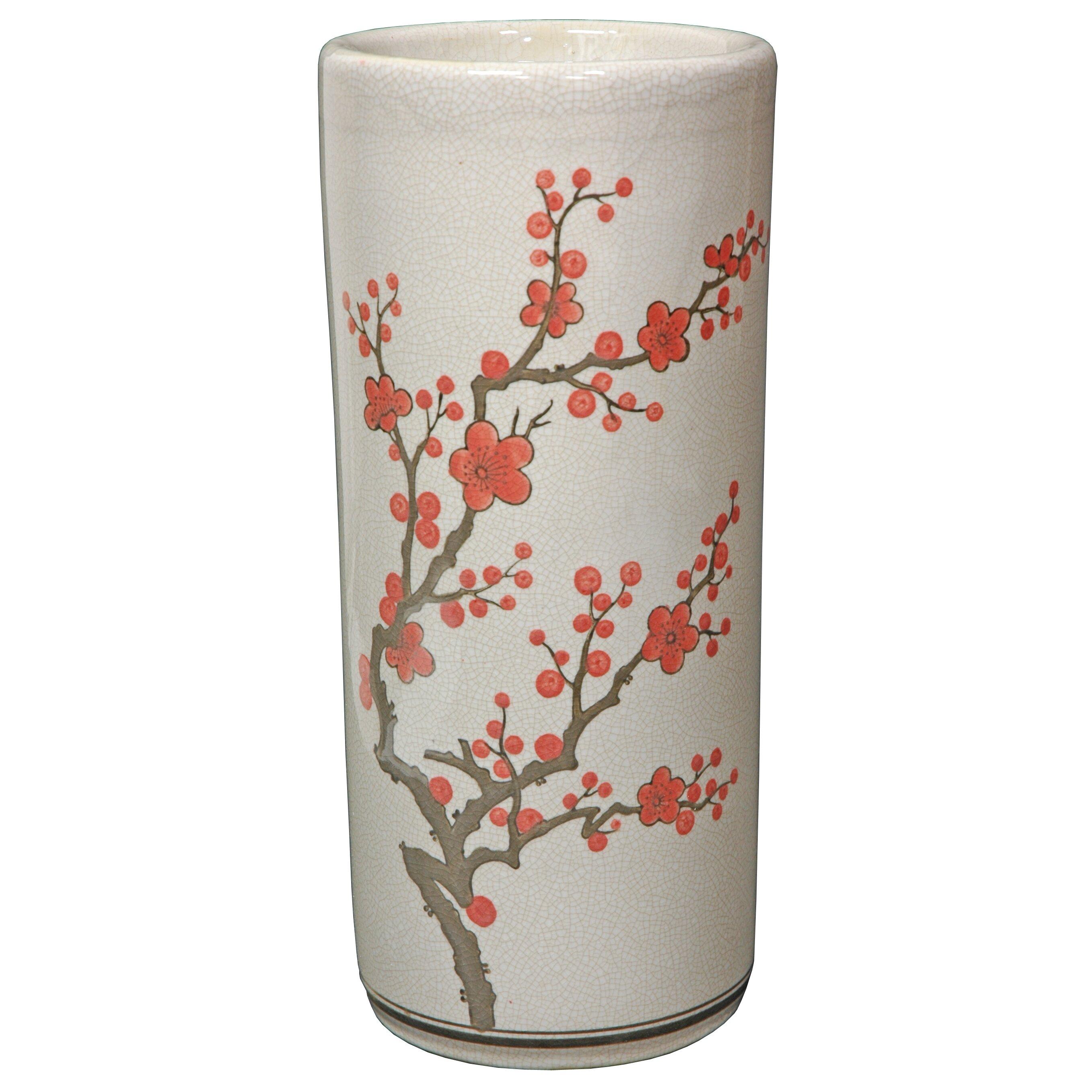 Umbrella Stand Wayfair: Oriental Furniture Cherry Blossom Umbrella Stand & Reviews
