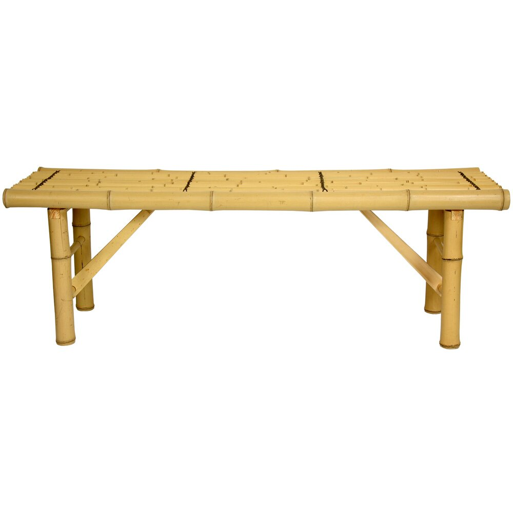 Oriental Furniture Japanese Bamboo Folding Bench Reviews Wayfair