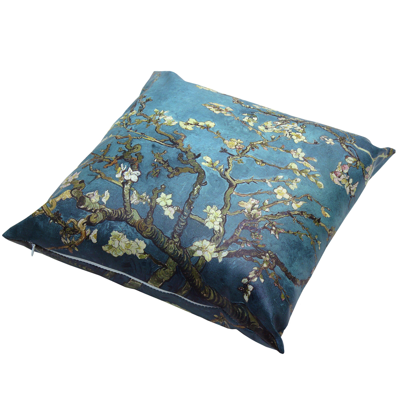 Oriental Design Throw Pillows : Oriental Furniture Van Gogh Almond Blossoms Throw Pillow Wayfair