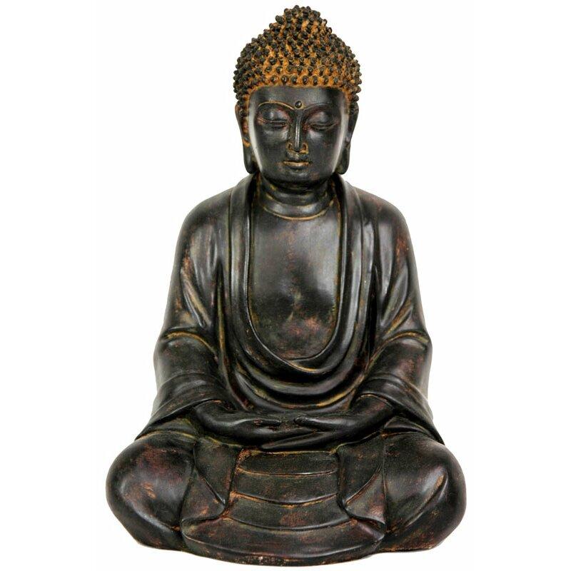 Wayfair Garden Statues: Oriental Furniture Japanese Sitting Buddha Garden Statue