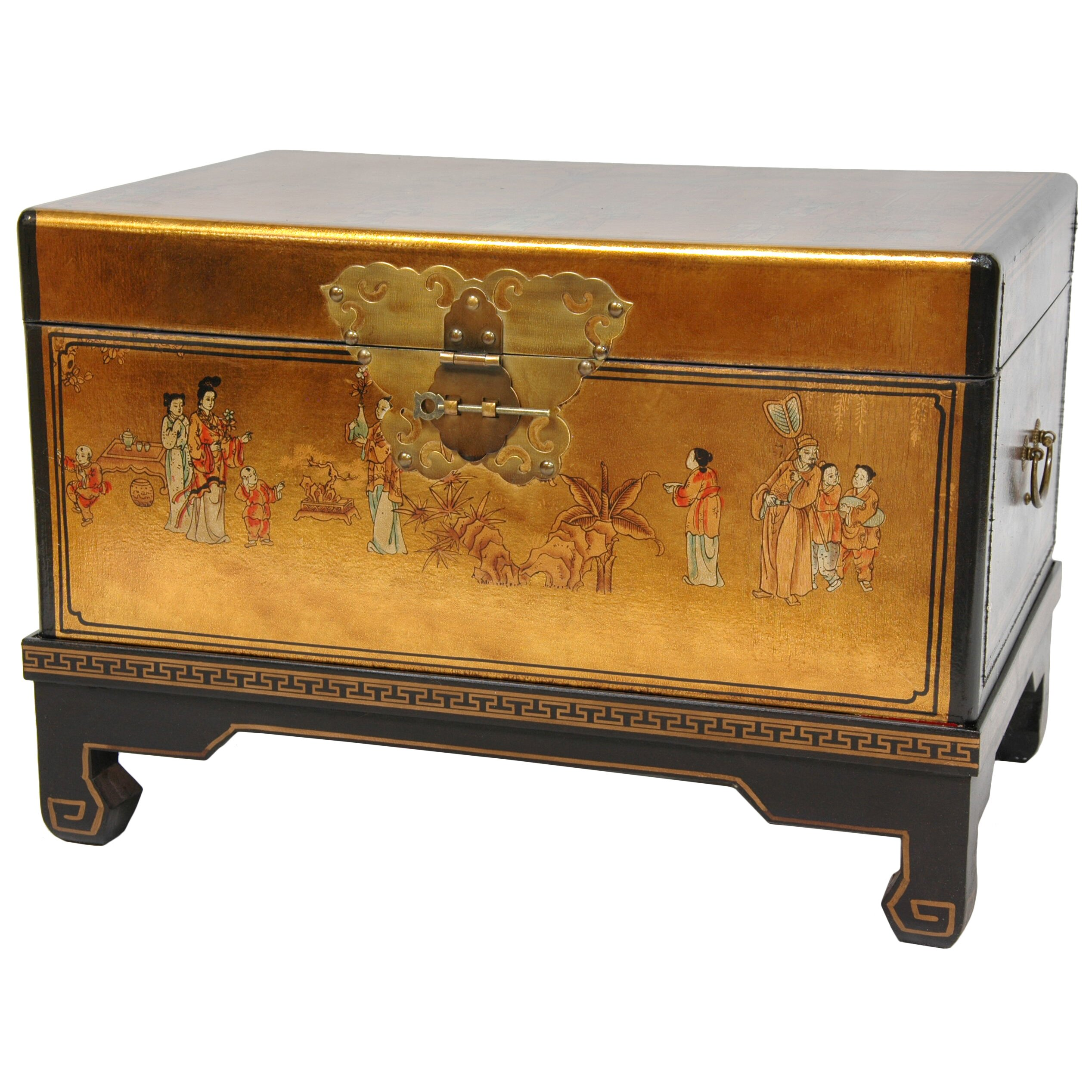 Oriental furniture lacquer small keepsake trunk reviews for Chinese furniture