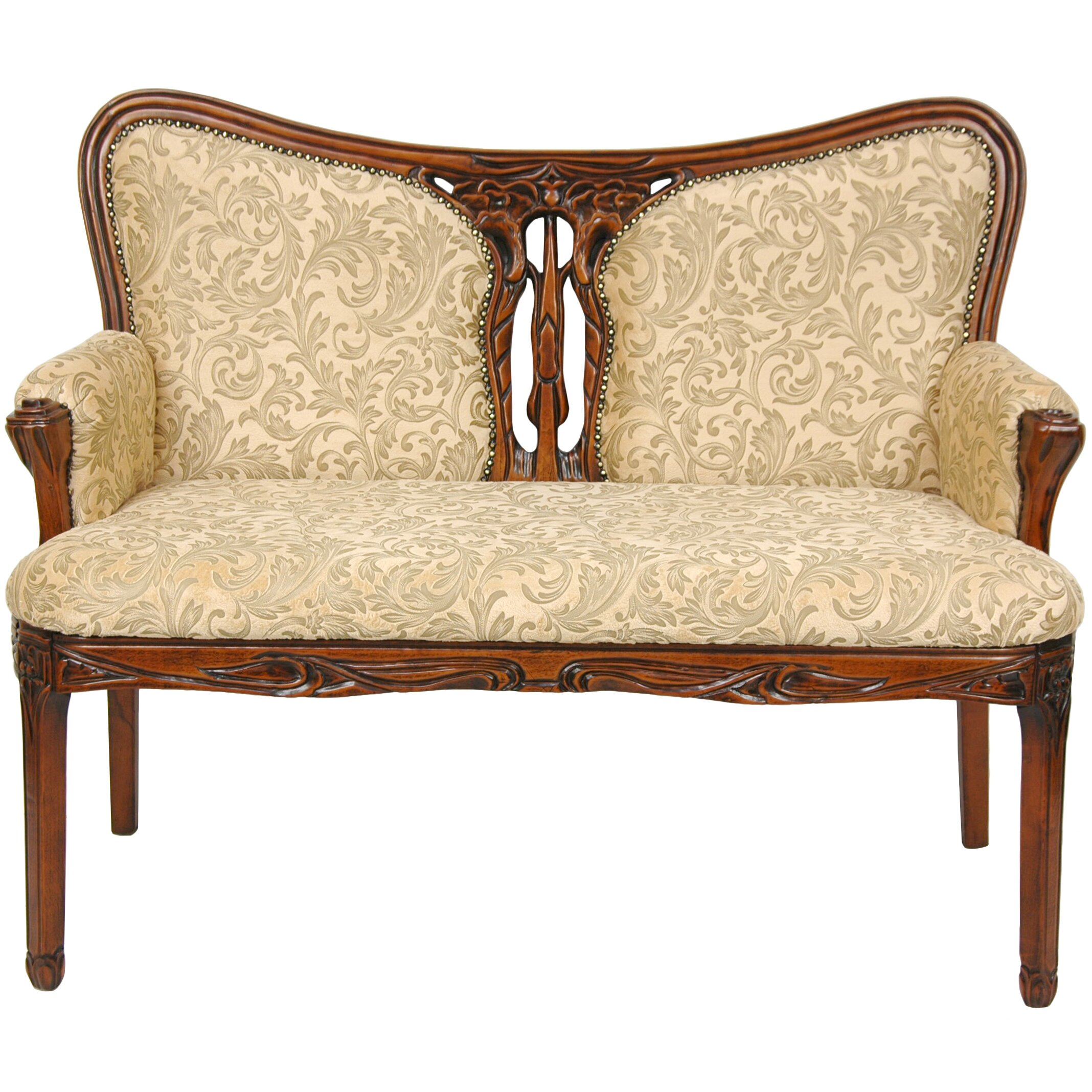 Oriental furniture cotton settee reviews wayfair for Oriental furniture