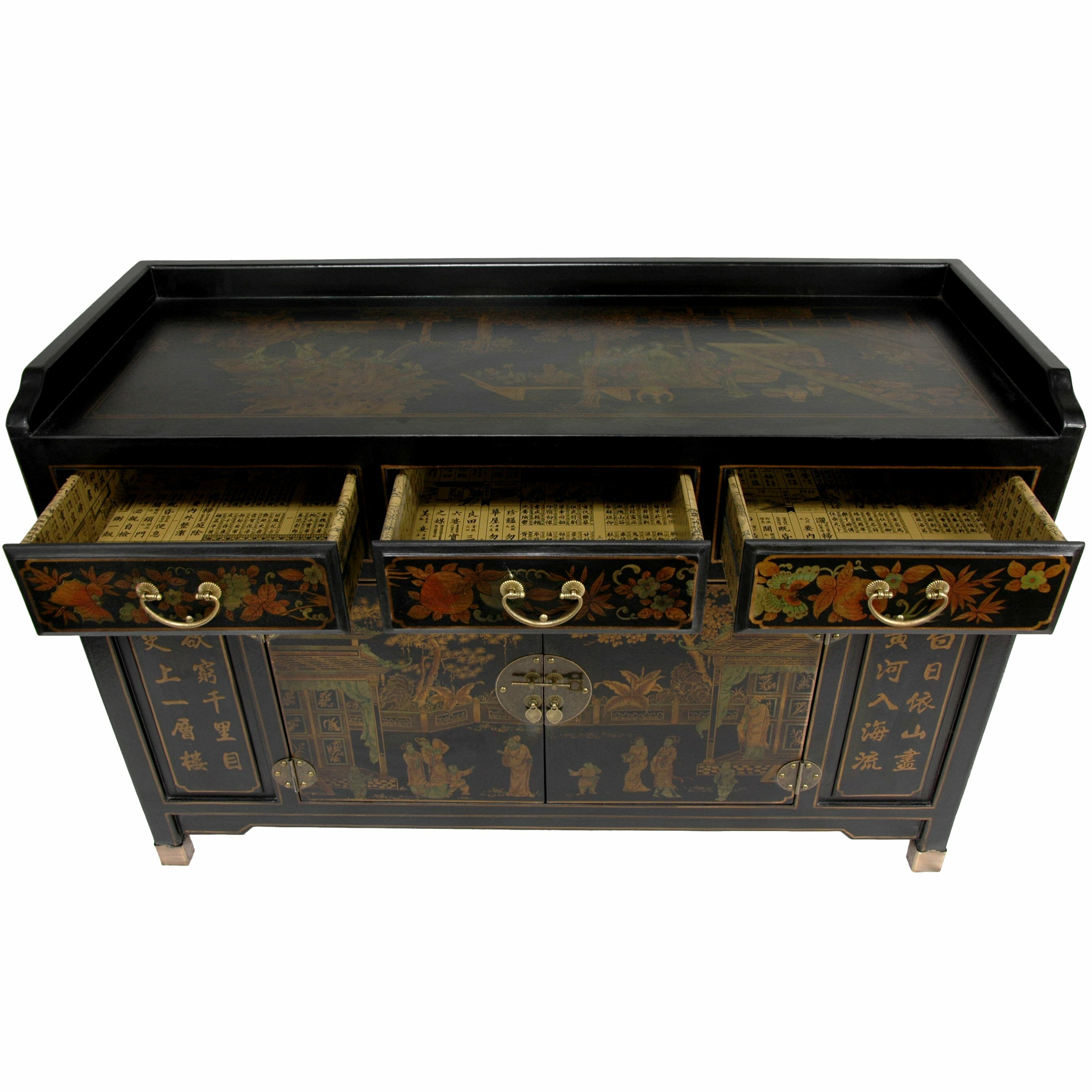 Oriental furniture buffet table reviews wayfair for Oriental furniture