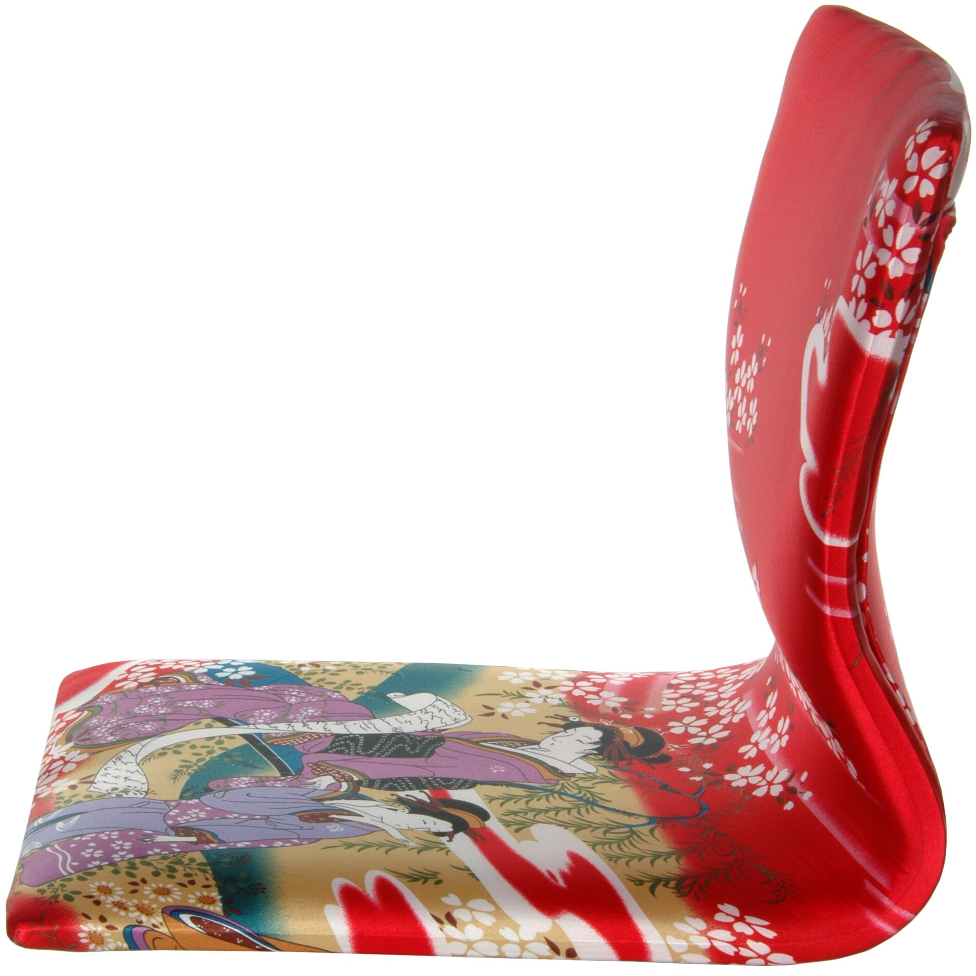 Oriental Furniture Tatami Geisha Meditation Fabric Lounge