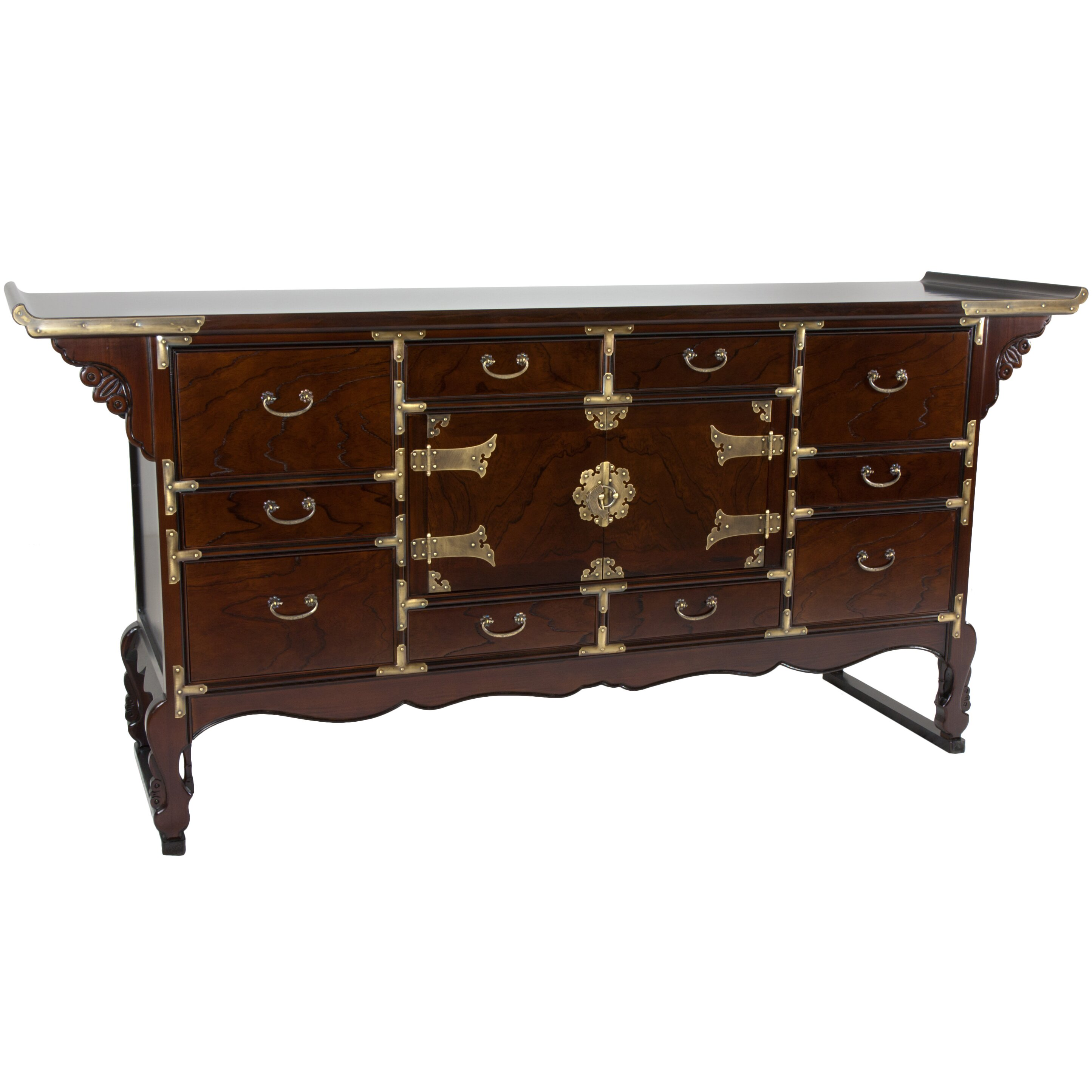 Oriental furniture korean tansu buffet server wayfair for Chinese furniture