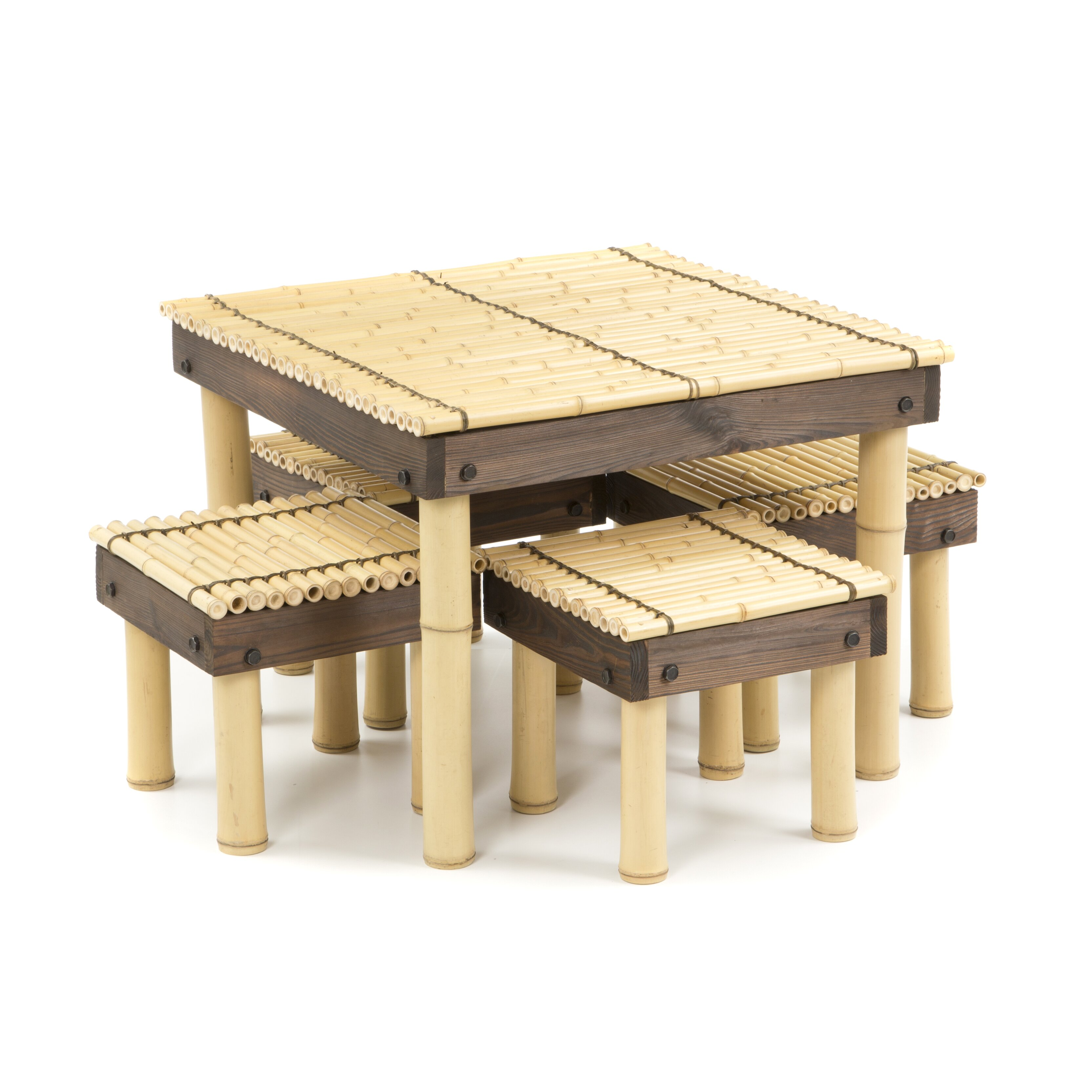 Oriental furniture zen bamboo coffee table with four