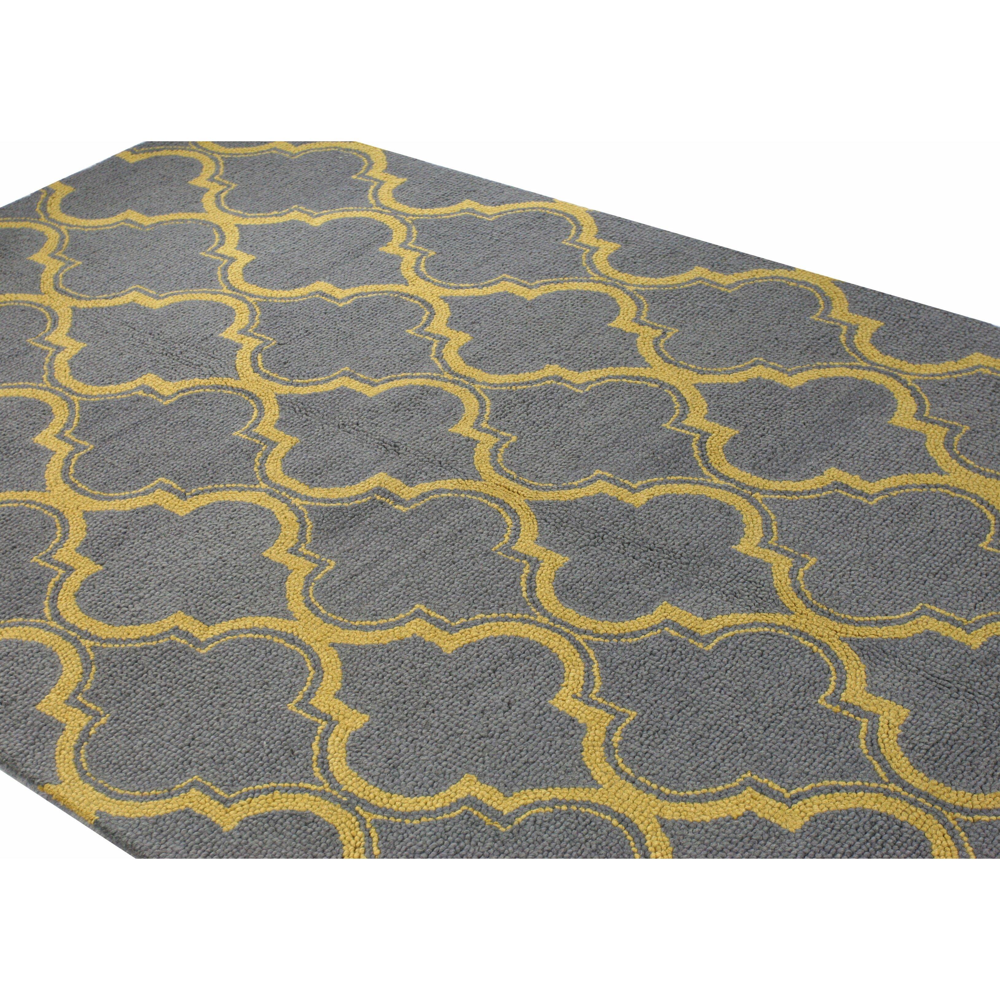 Bashian Rugs Rajapur Grey & Gold Area Rug & Reviews