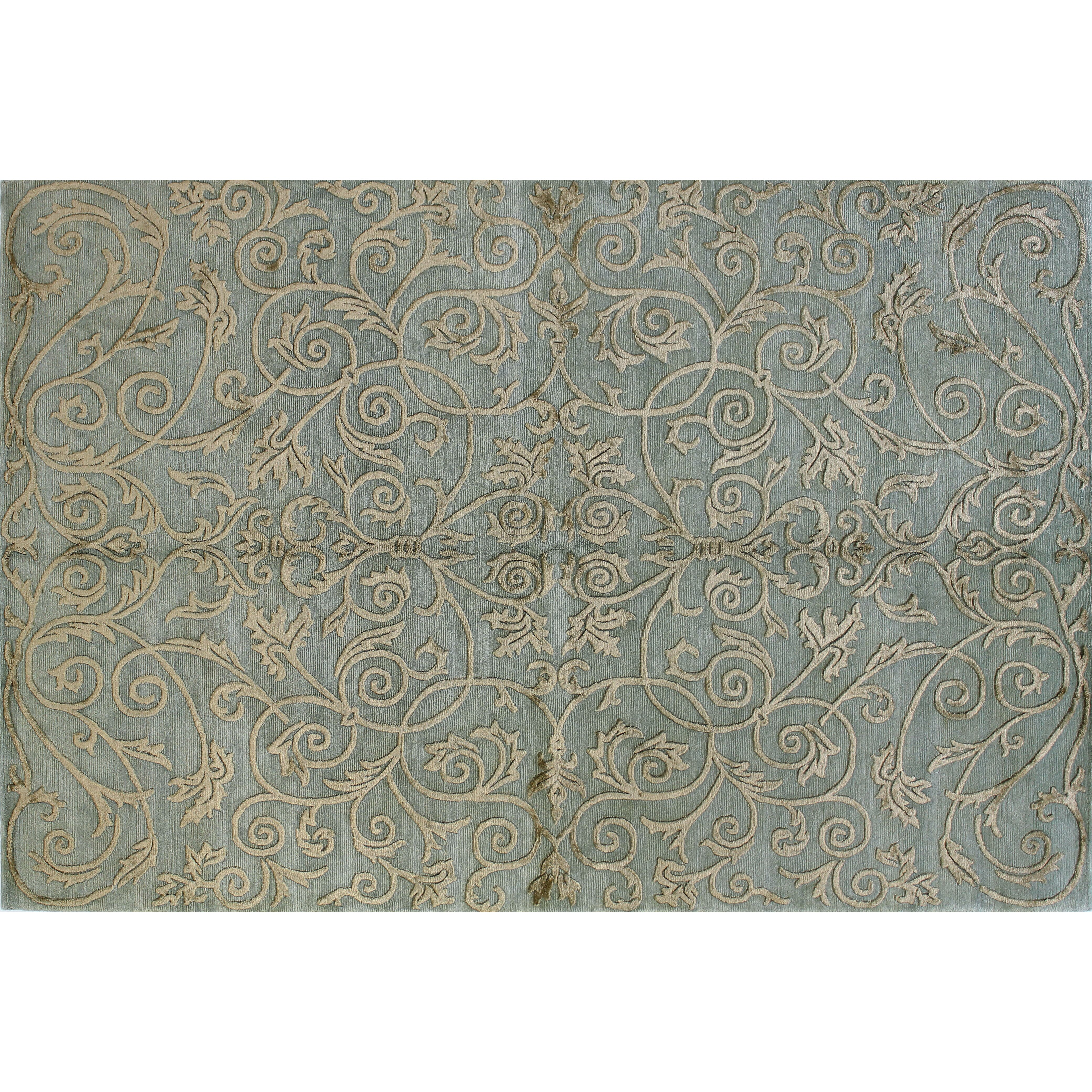 Bashian rugs royale light blue area rug reviews wayfair for Accent rug vs area rug