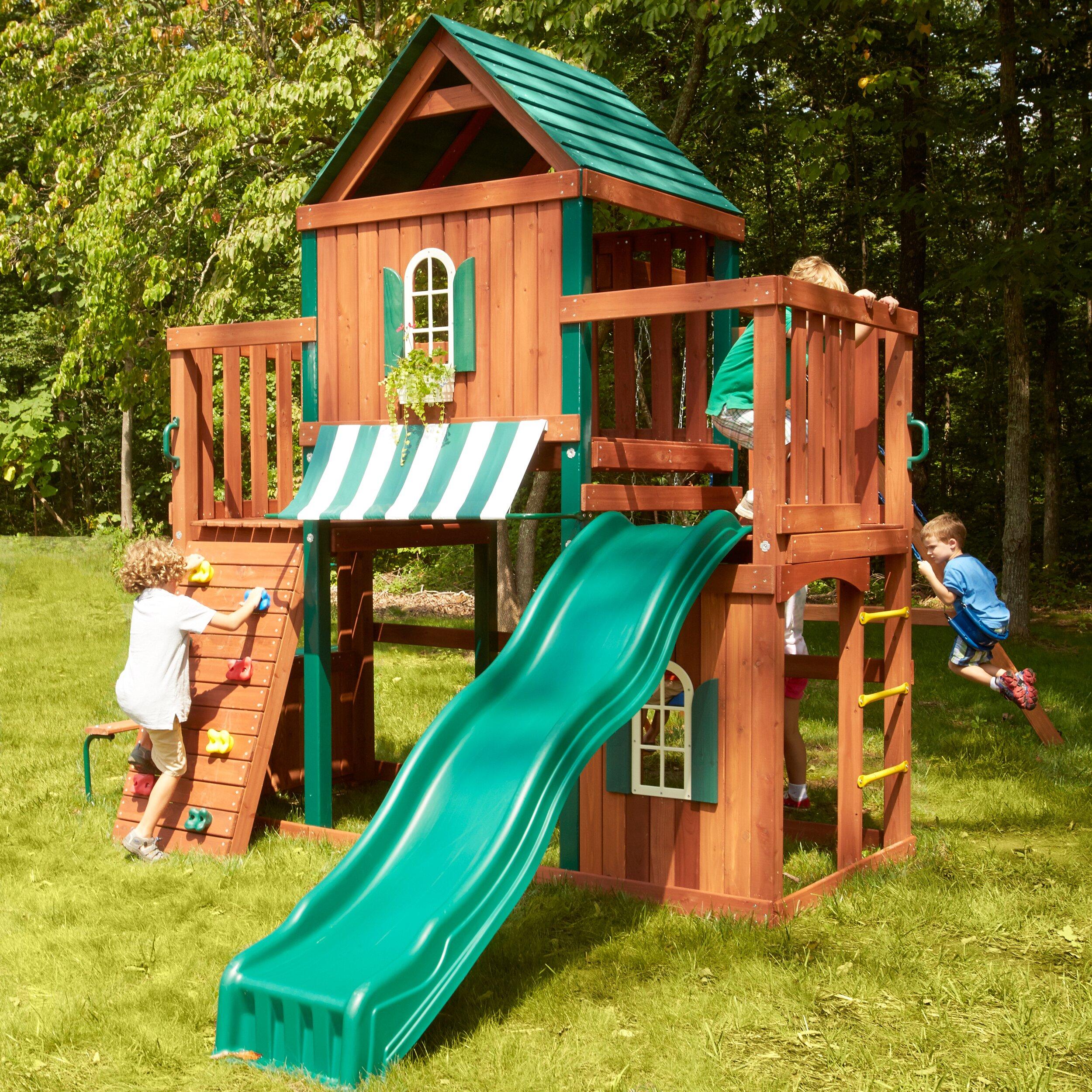 Swing-n-Slide Winchester Wood Complete Swing Set & Reviews ...