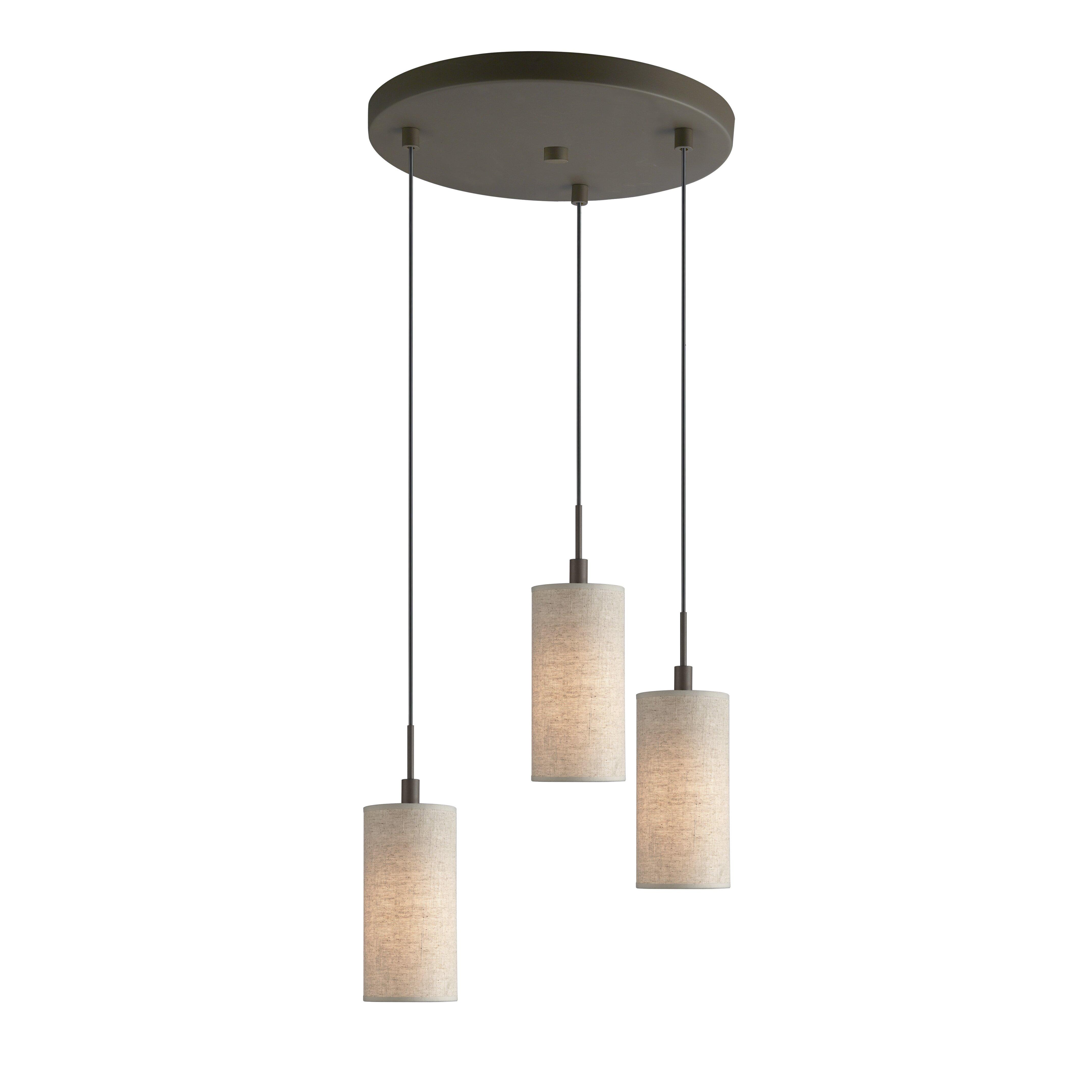Woodbridge Ceiling Cluster 3 Light Mini Pendant Reviews Wayfair