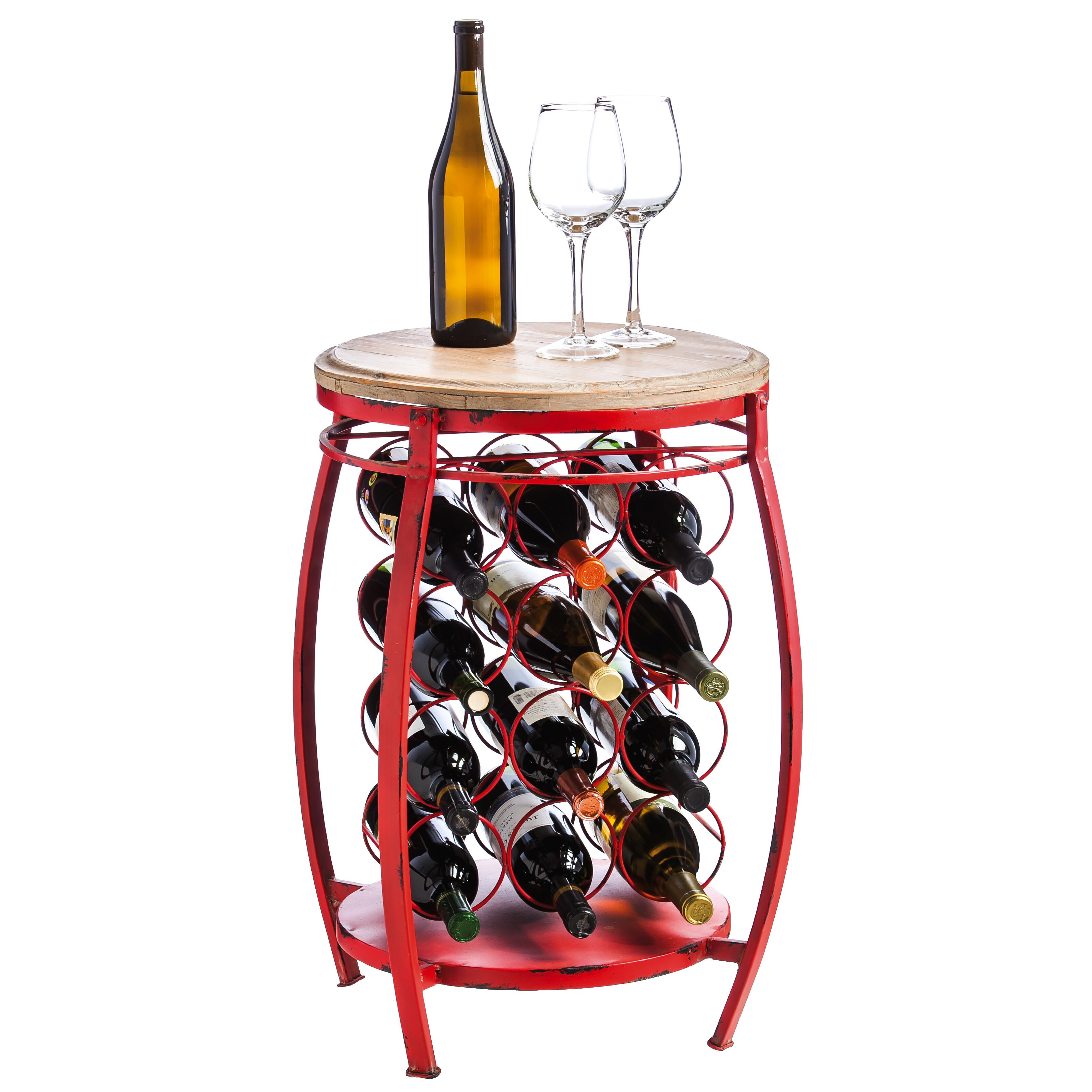 Evergreen enterprises inc 12 bottle floor wine rack for Floor wine rack