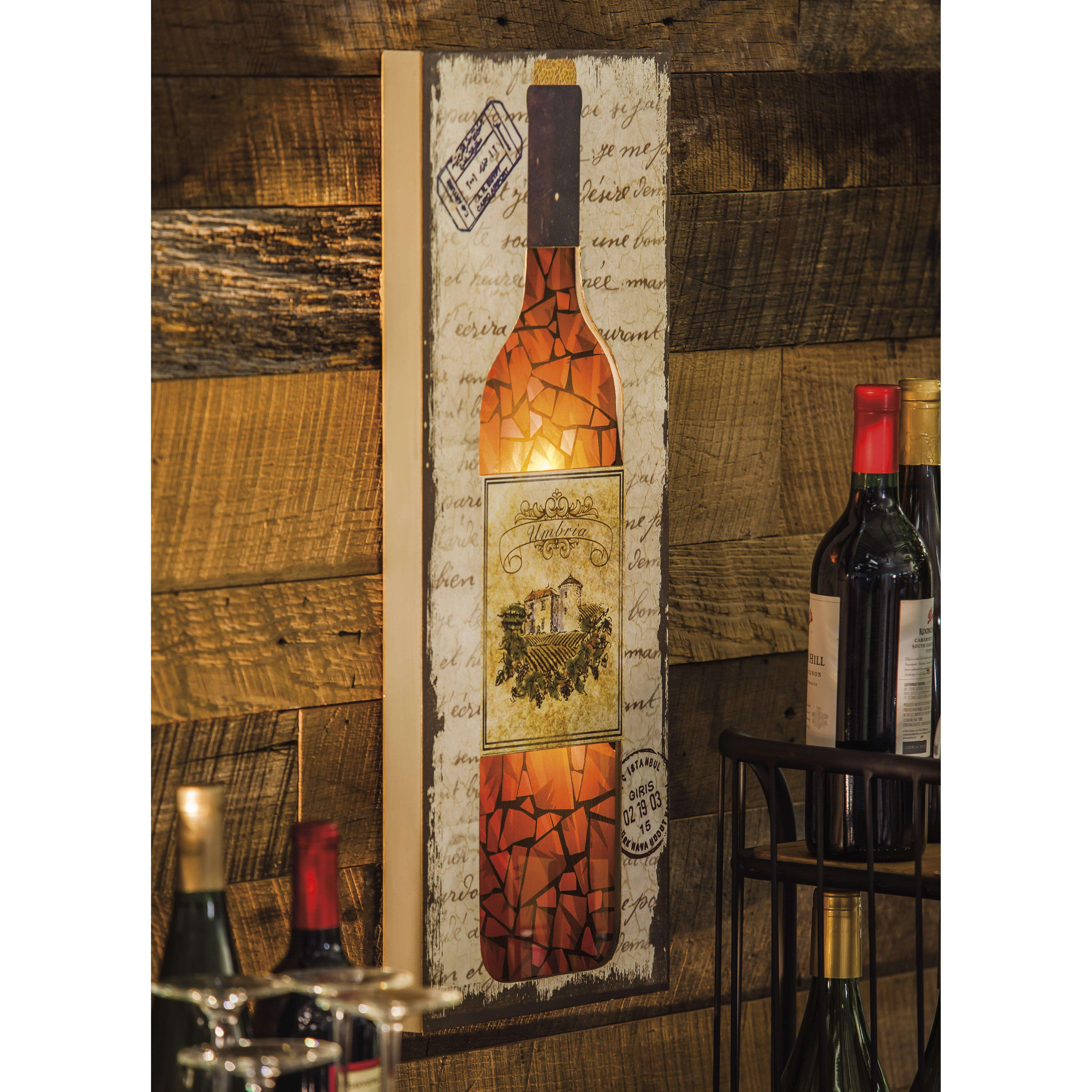 Evergreen enterprises inc wine bottle wall d cor for Wall decor wine bottles