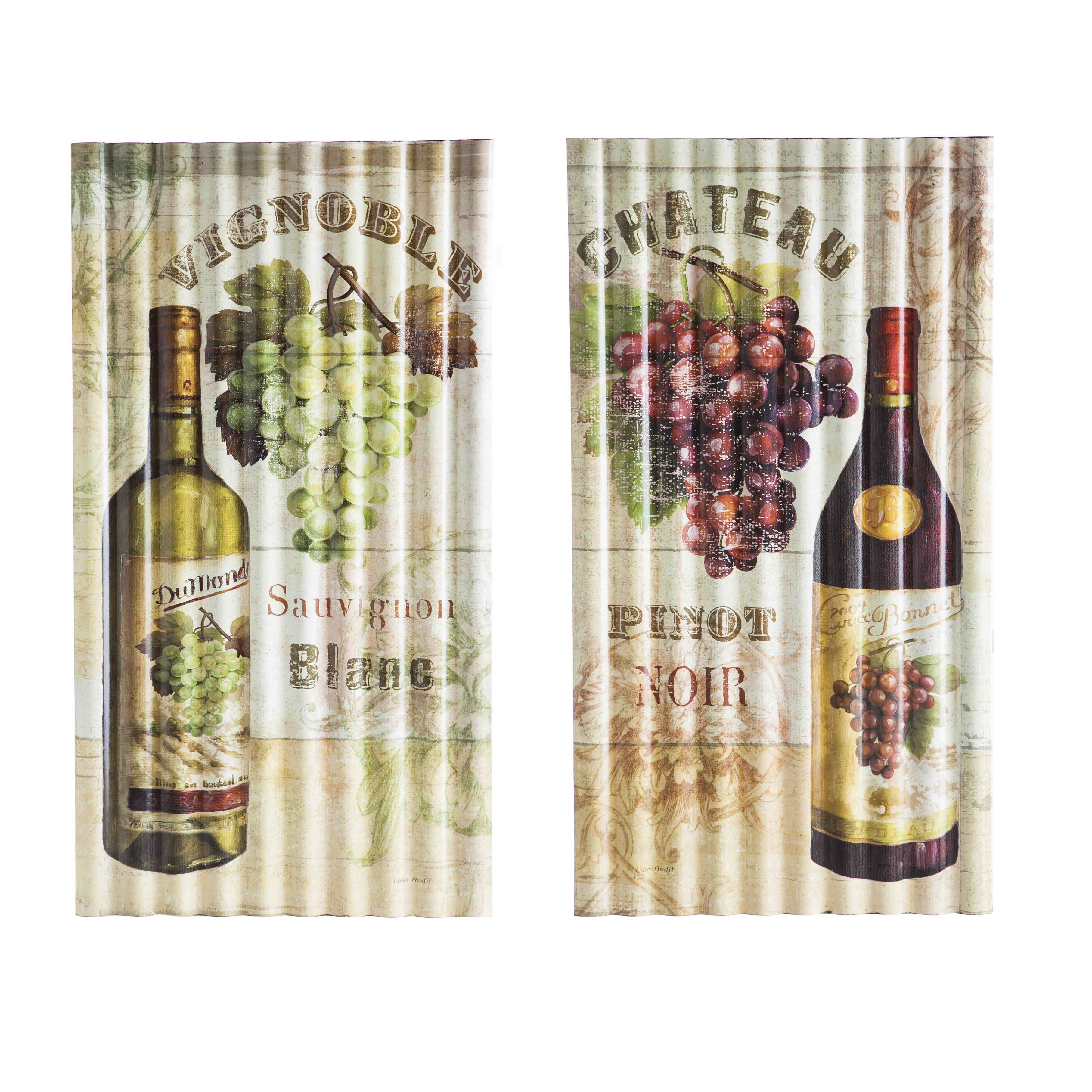 Evergreen Enterprises, Inc 2 Piece Corragated Vintage Wine ...
