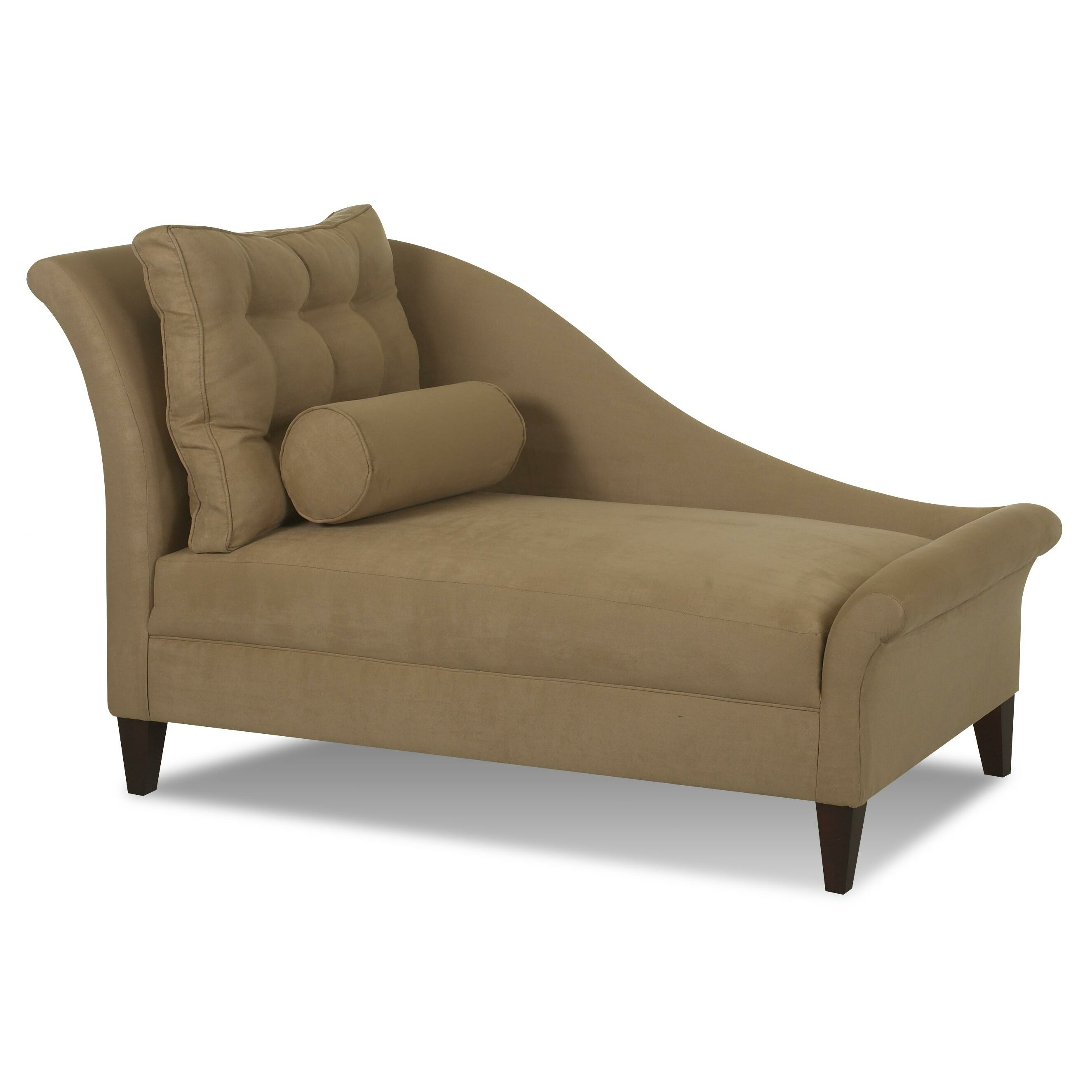 Klaussner furniture park right arm facing chaise lounge for Armed chaise lounge
