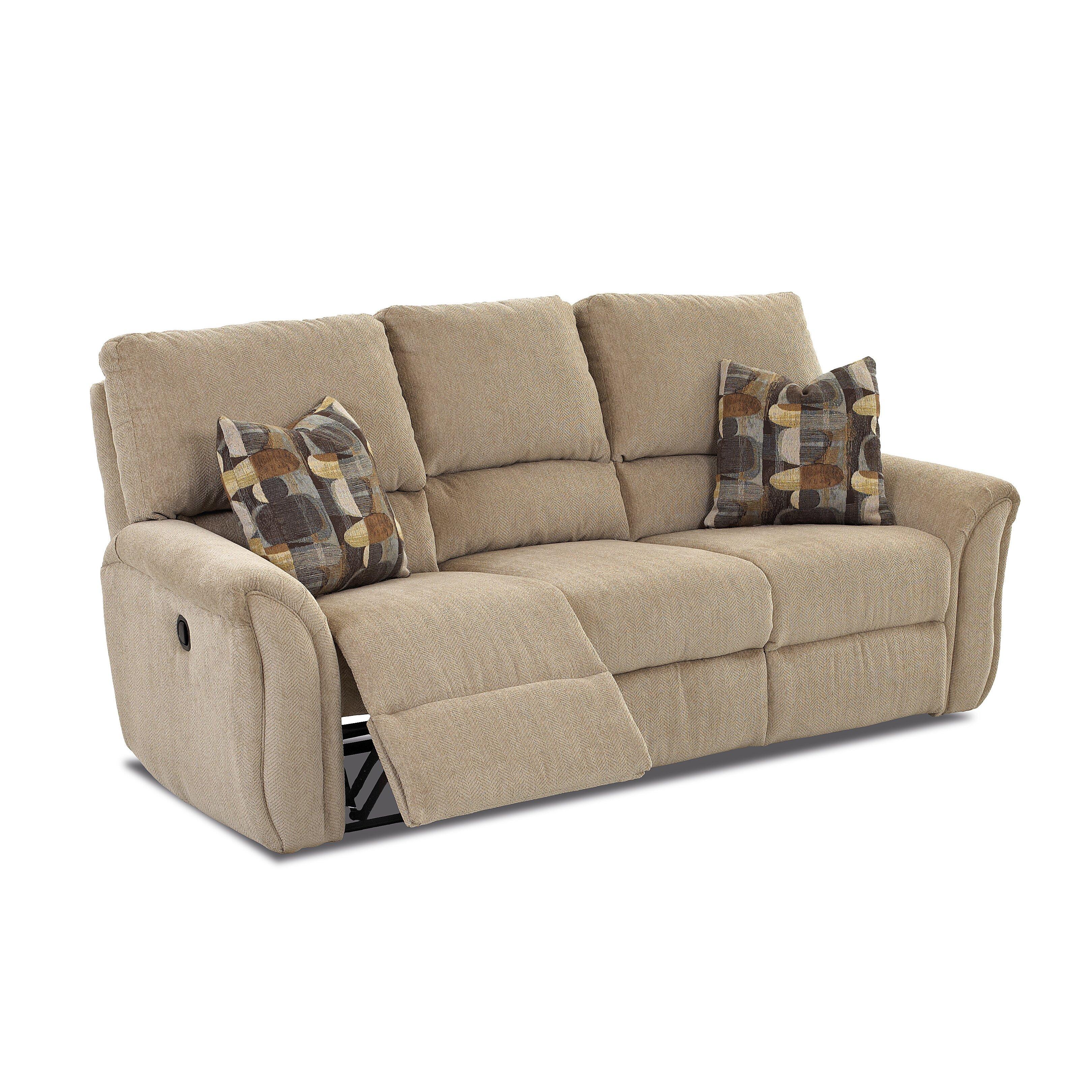 Klaussner furniture miley reclining sofa wayfair for Klaussner sofa