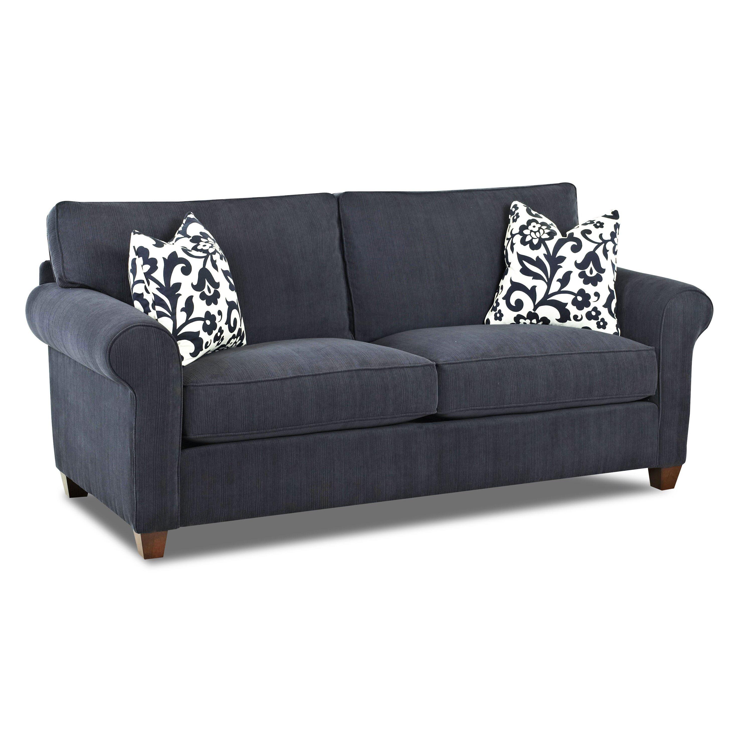 Klaussner furniture tory loveseat reviews wayfair for Klaussner sofa